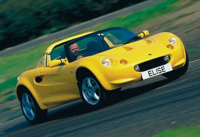 1996 lotus elise yellow