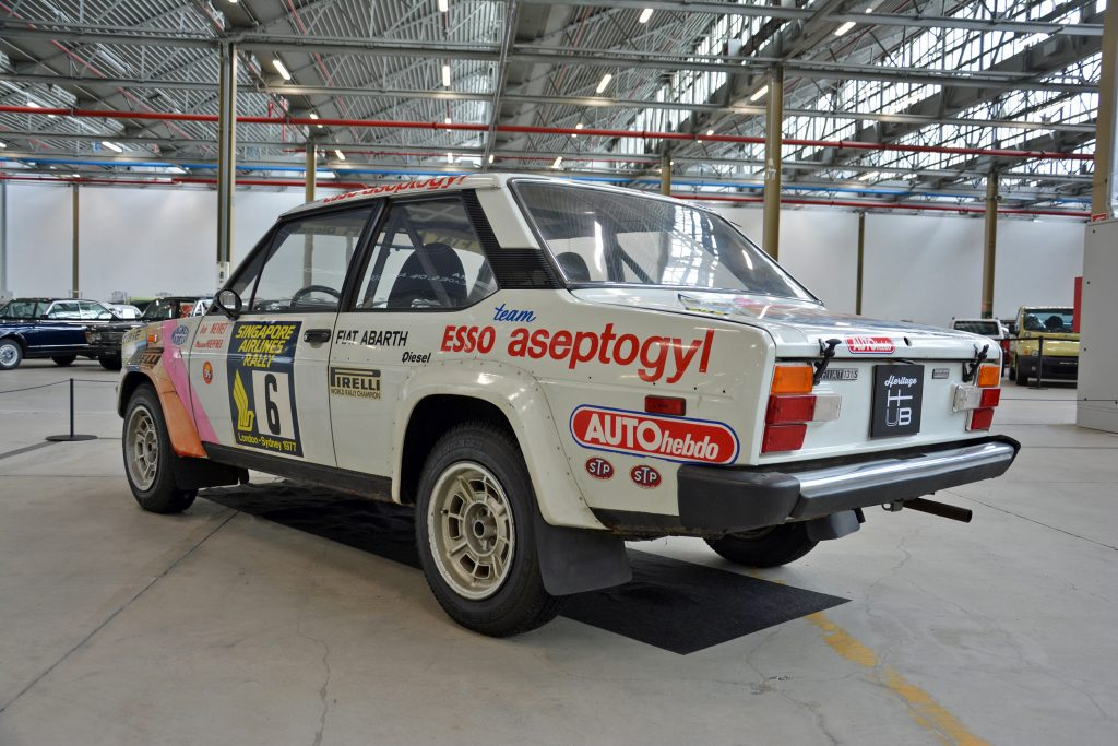 fiat abarth 131 diesel rear three-quarter