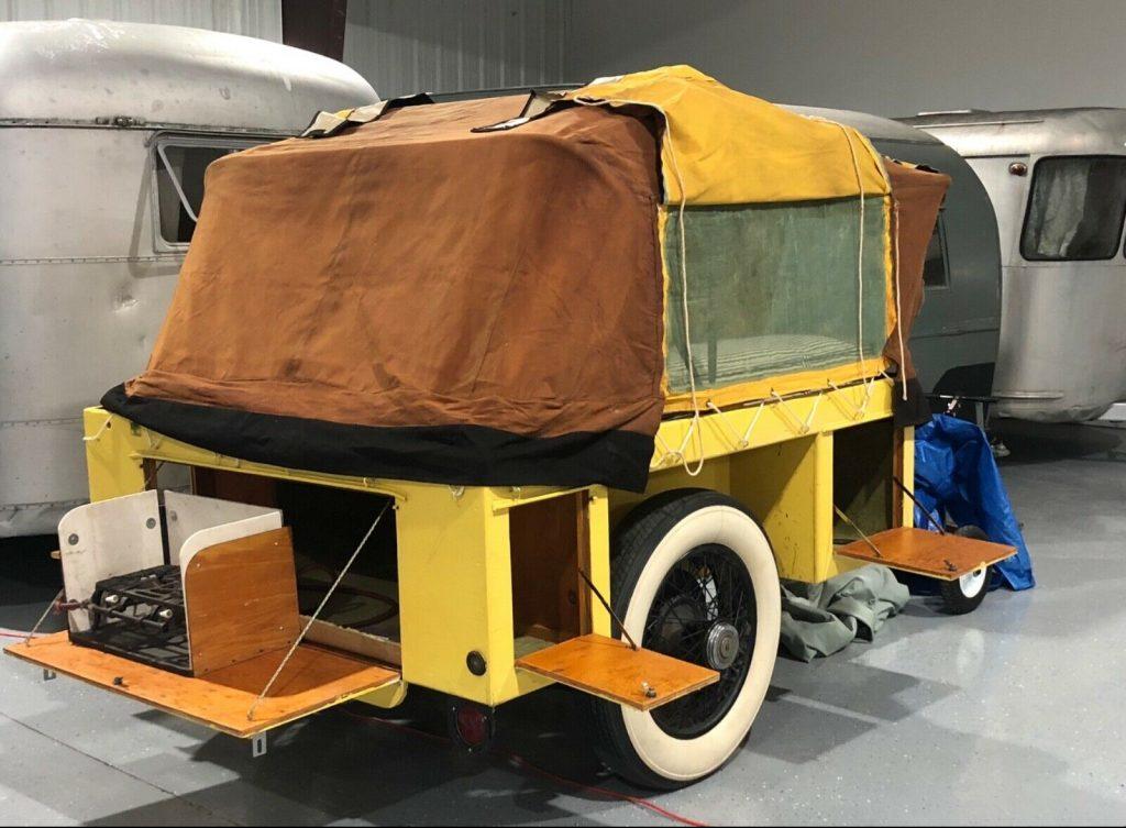 vintage rolls-royce camper trailer