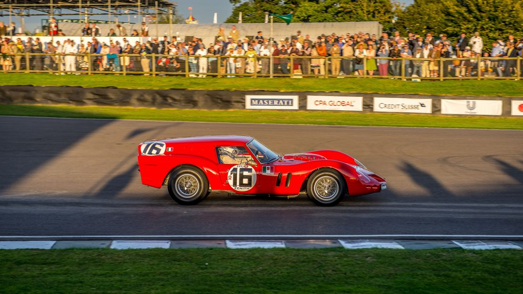Ferrari 250 GTO Breadvan side profile action