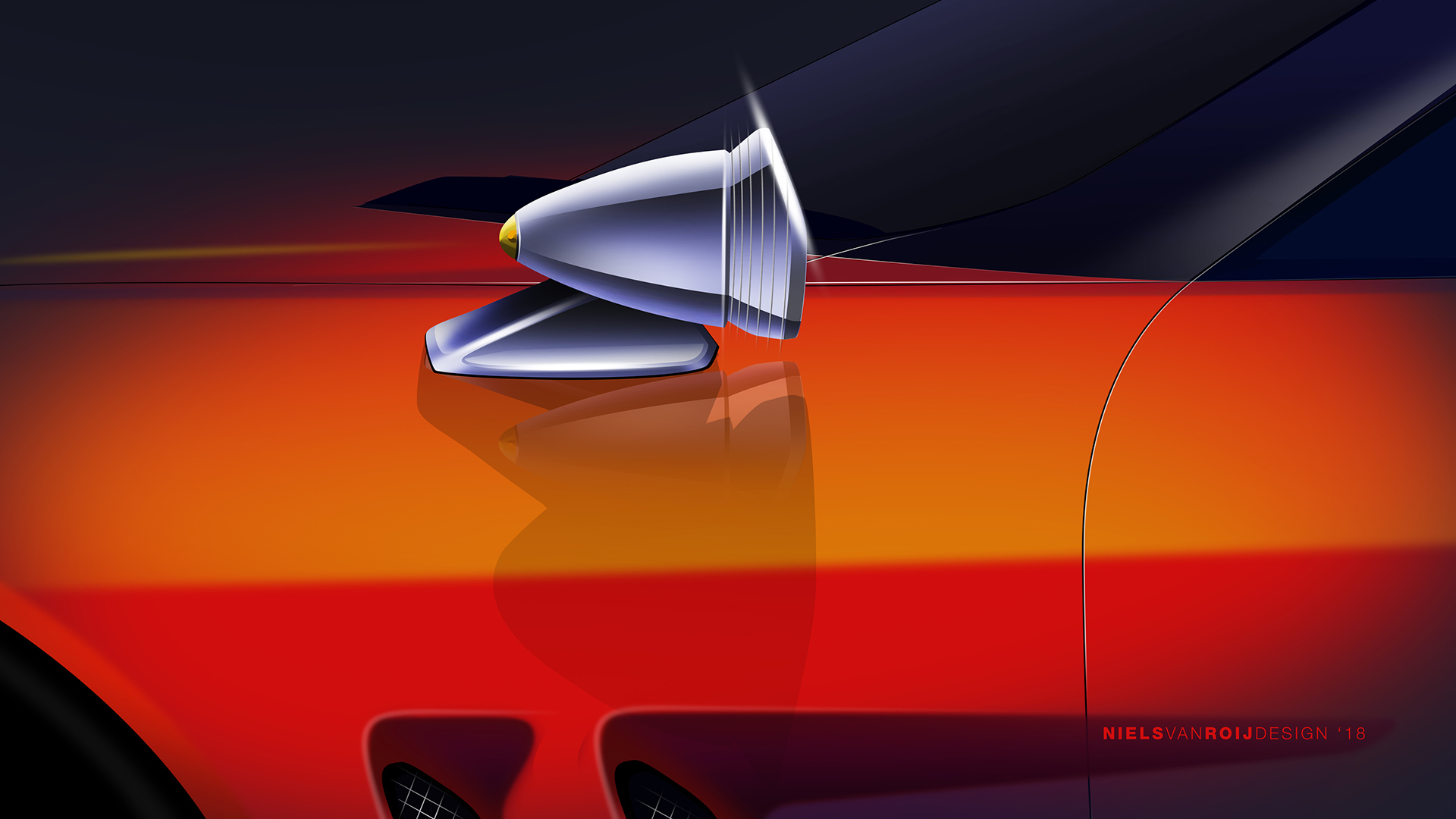 breadvan design rendering side mirror