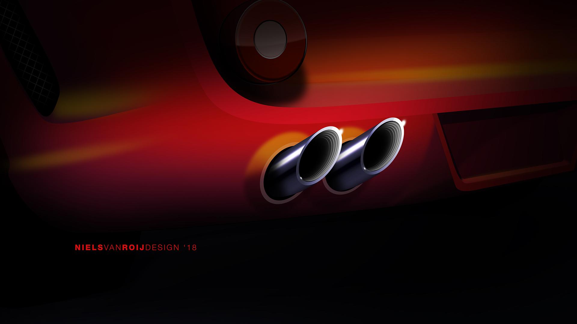 breadvan design rendering exhaust tip