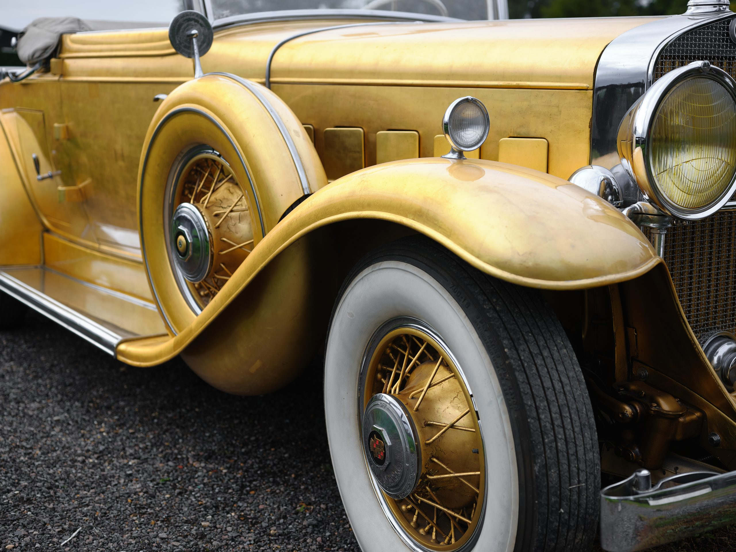 1931 Cadillac V-8 Convertible Coupe front quarter