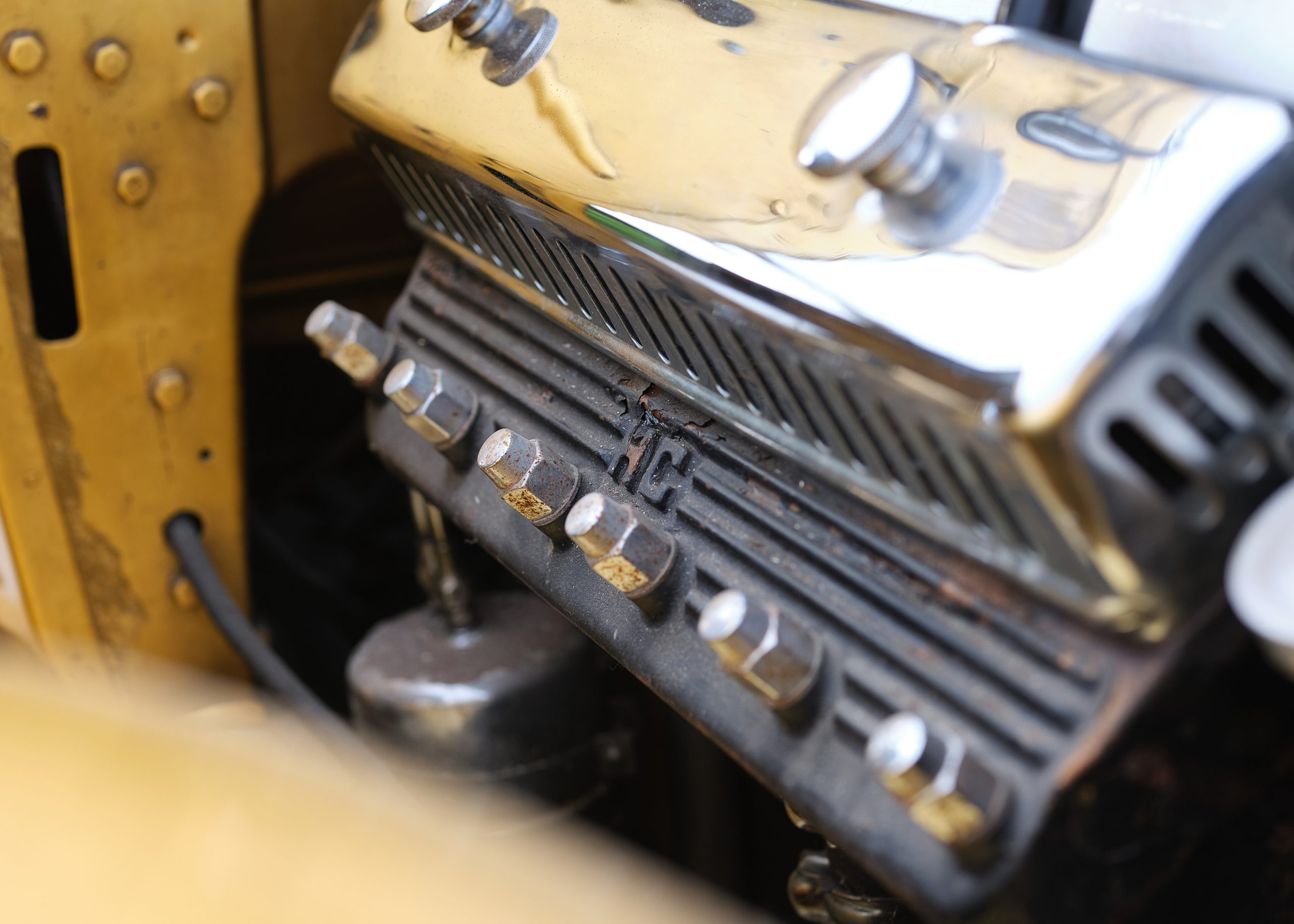 1931 Cadillac V-8 Convertible Coupe engine detail close