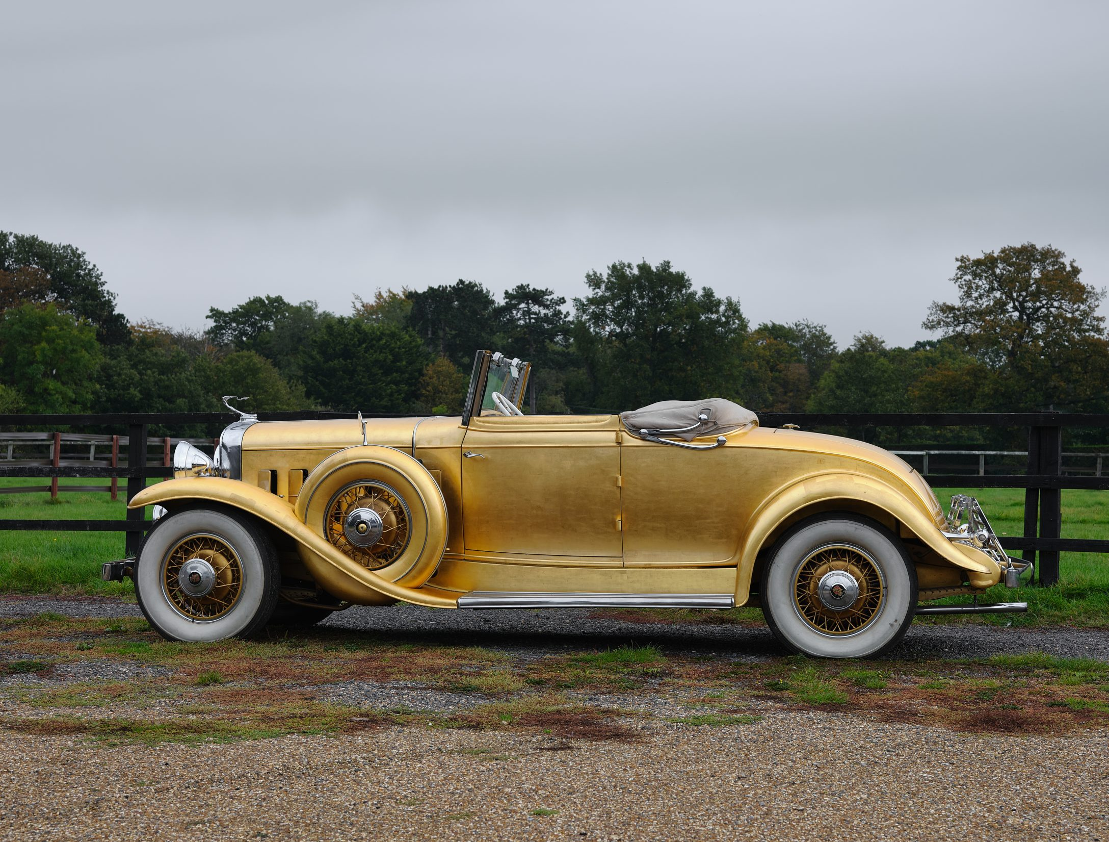 1931 Cadillac V-8 Convertible Coupe side profile
