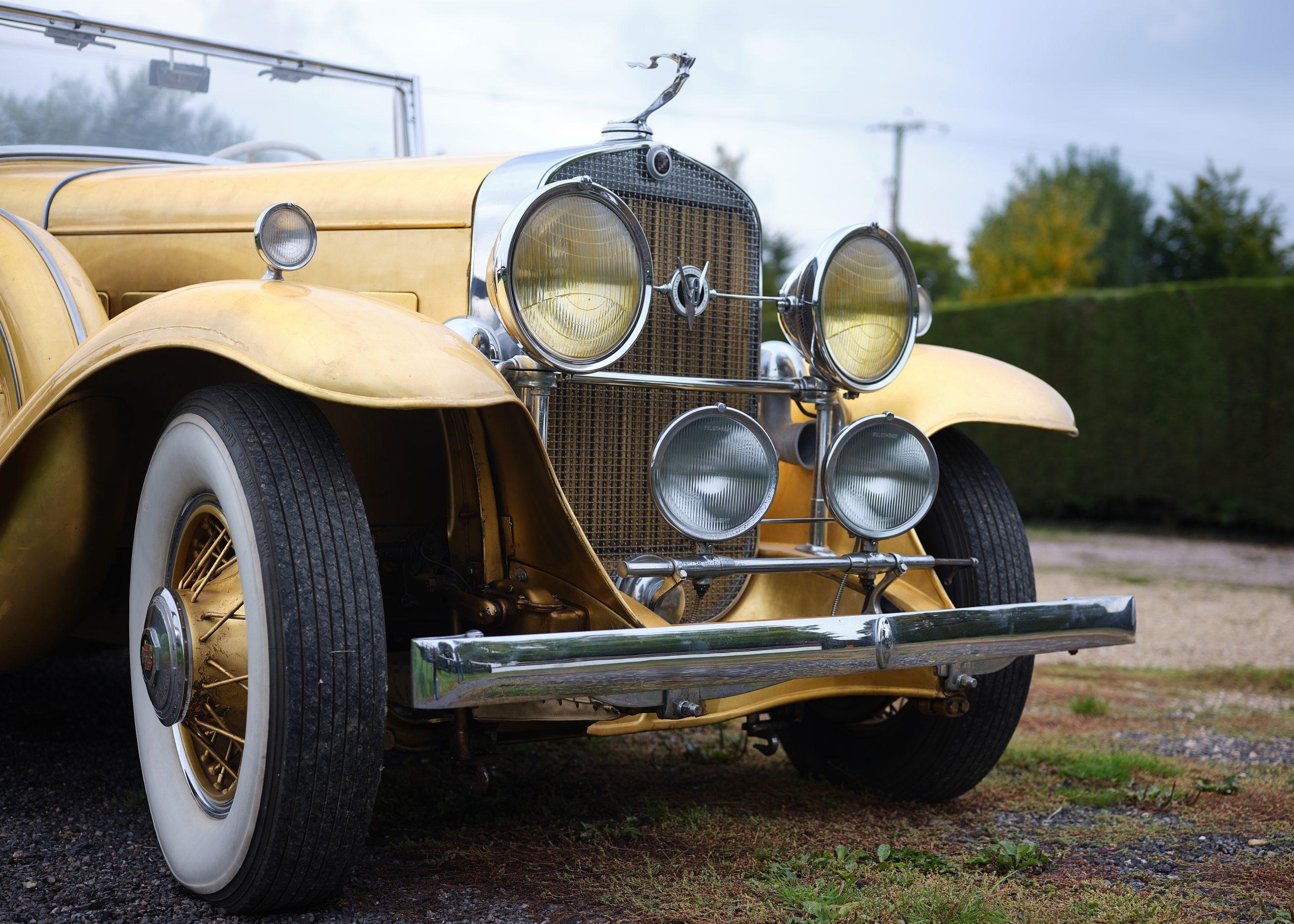 1931 Cadillac V-8 Convertible Coupe front close