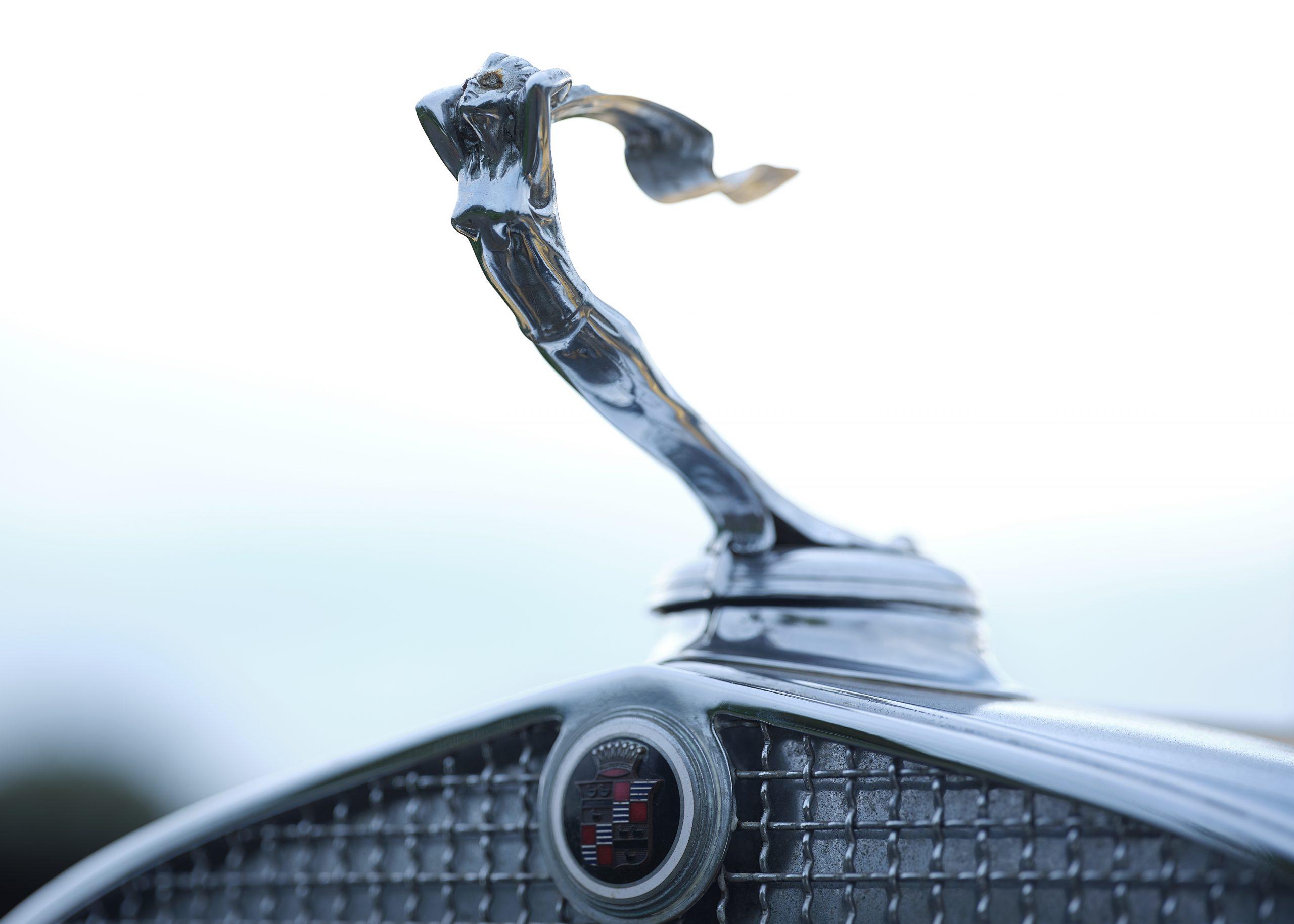 1931 Cadillac V-8 Convertible Coupe hood ornament