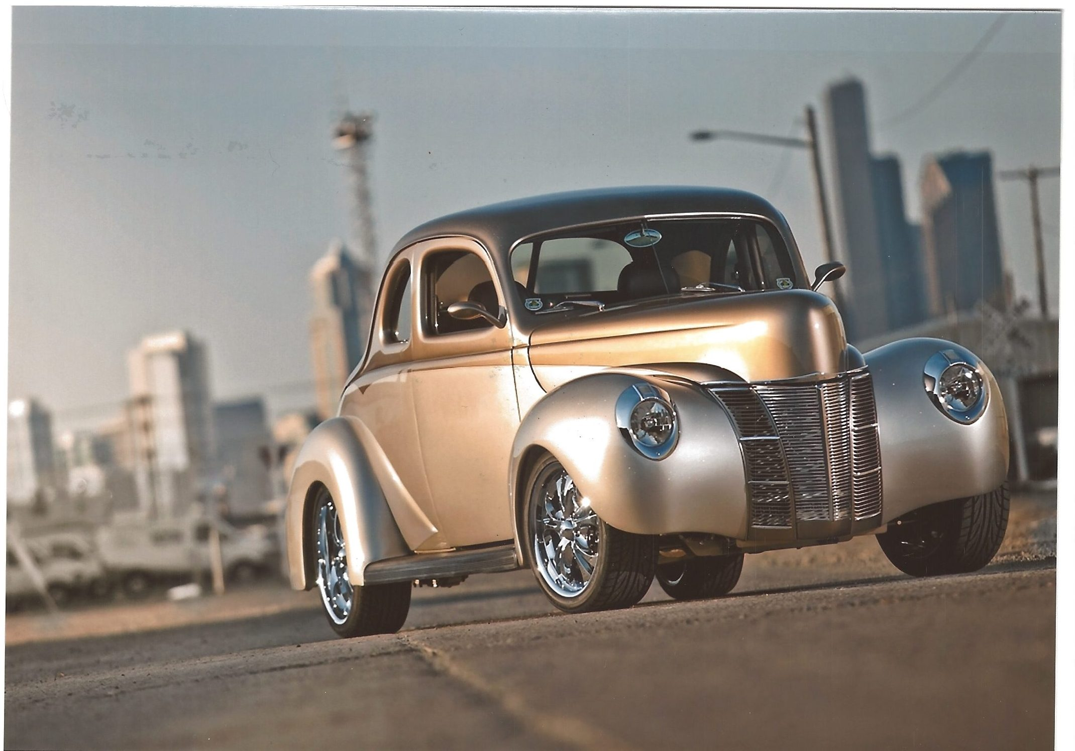 1940 ford deluxe thumper front three-quarter