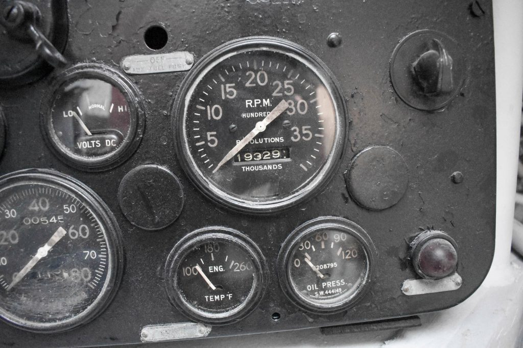 1943 M4A1 Sherman Tank gauges detail