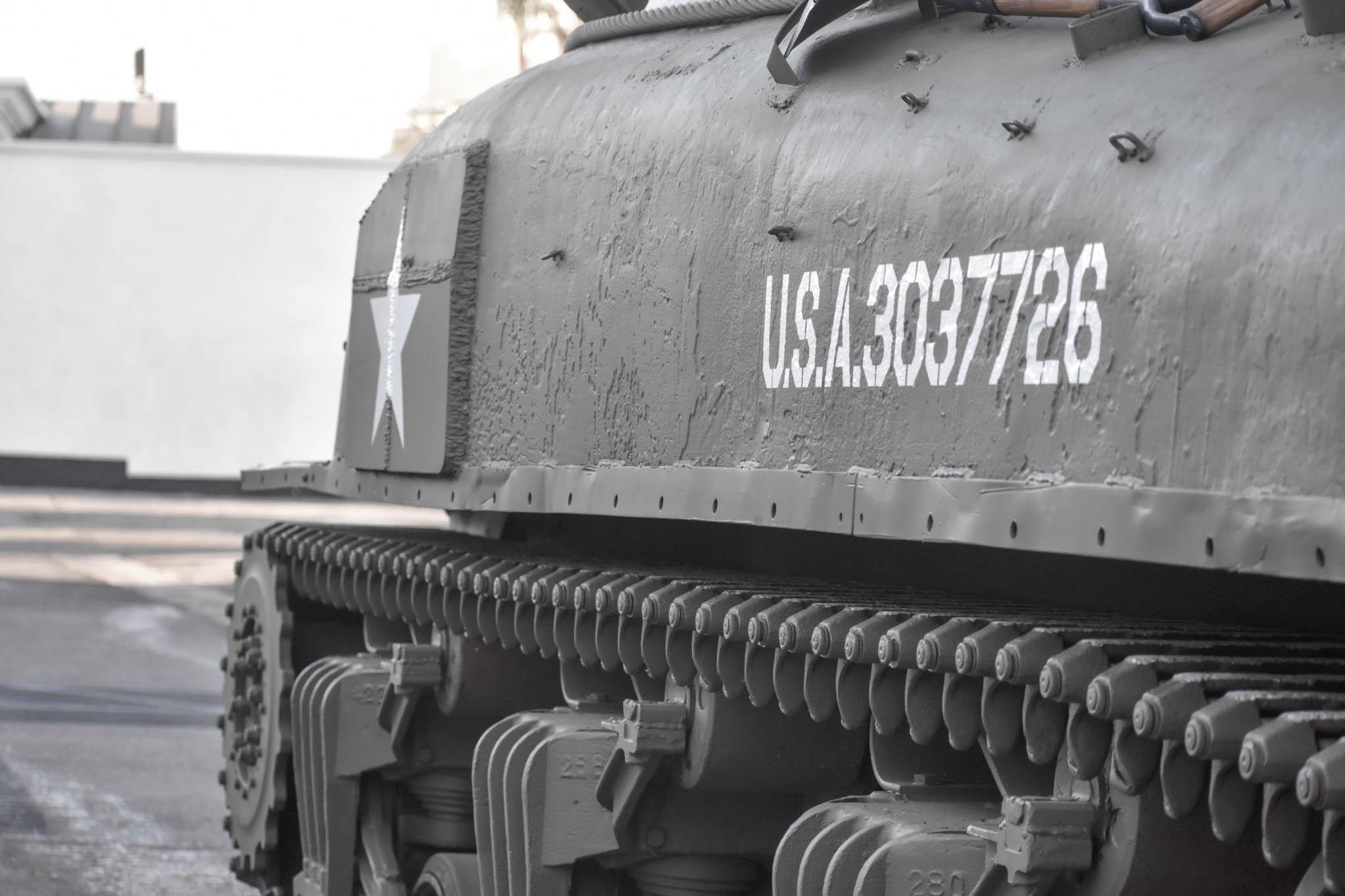 1943 M4A1 Sherman Tank side