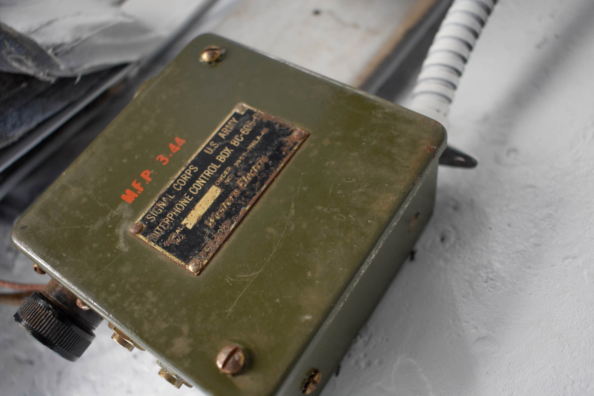 1943 M4A1 Sherman Tank phone control box close
