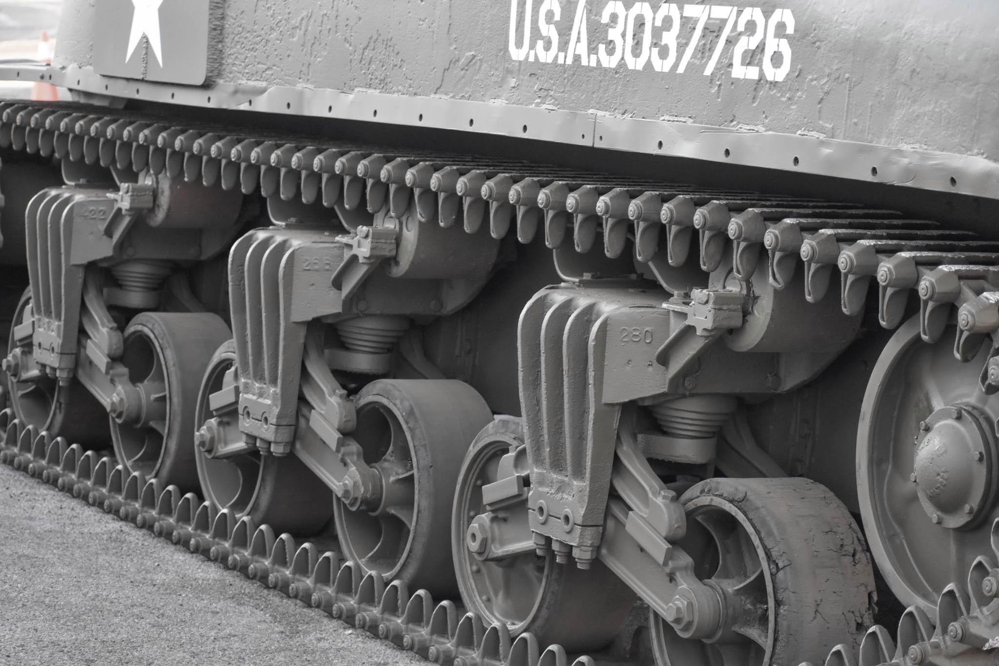 1943 M4A1 Sherman Tank track detail