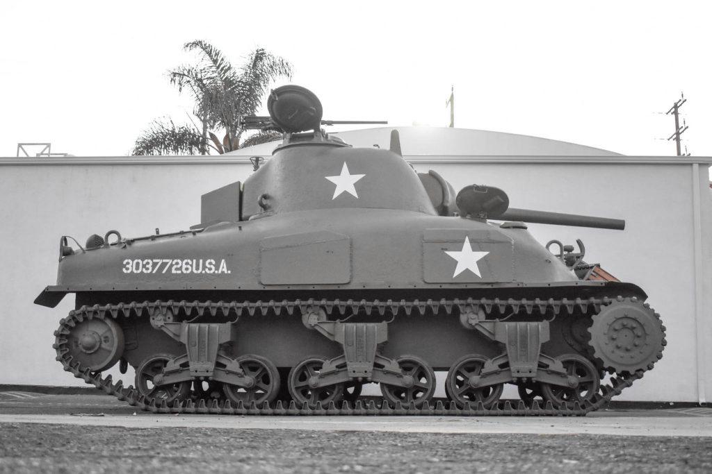 1943 M4A1 Sherman Tank side profile