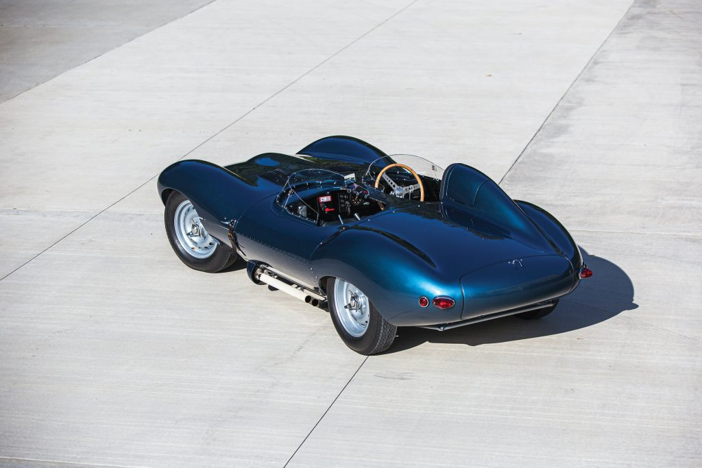 1955 Jag D-Type rear three-quarter overhead
