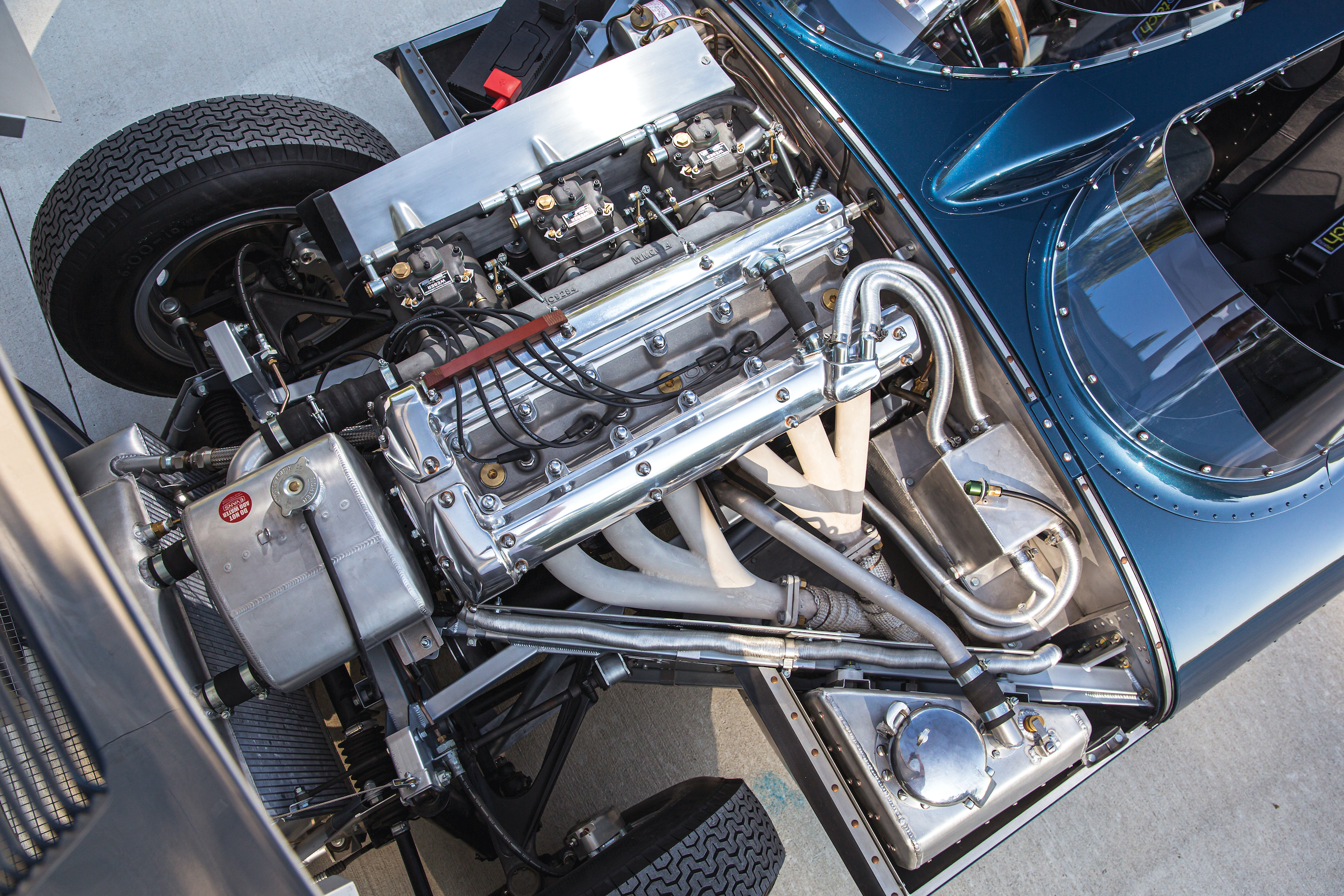 1955 Jag D-Type engine overhead