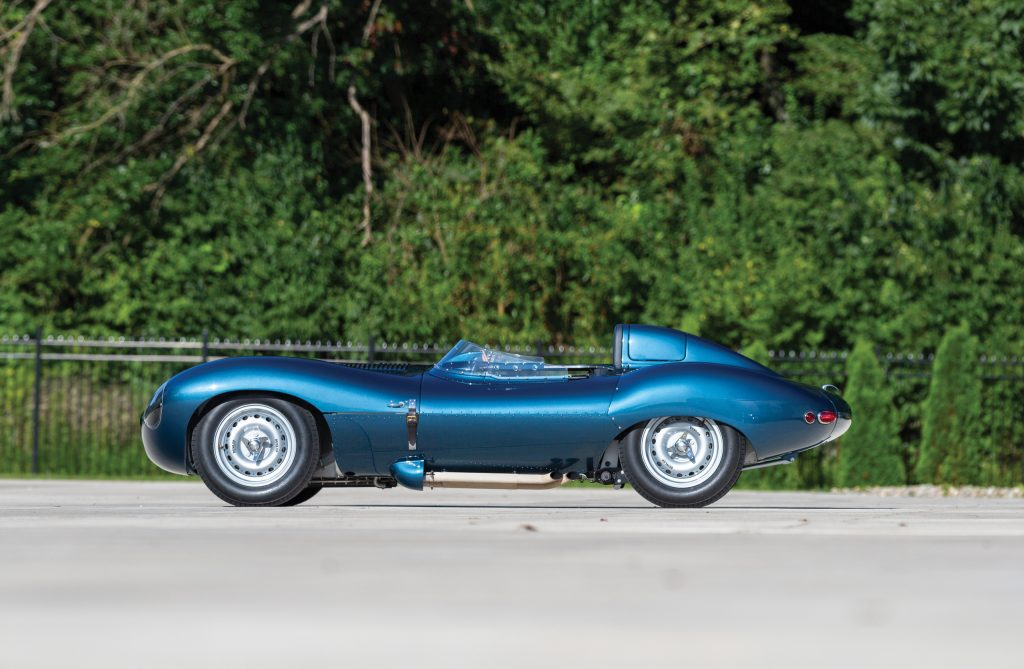 1955 Jag D-Type side profile