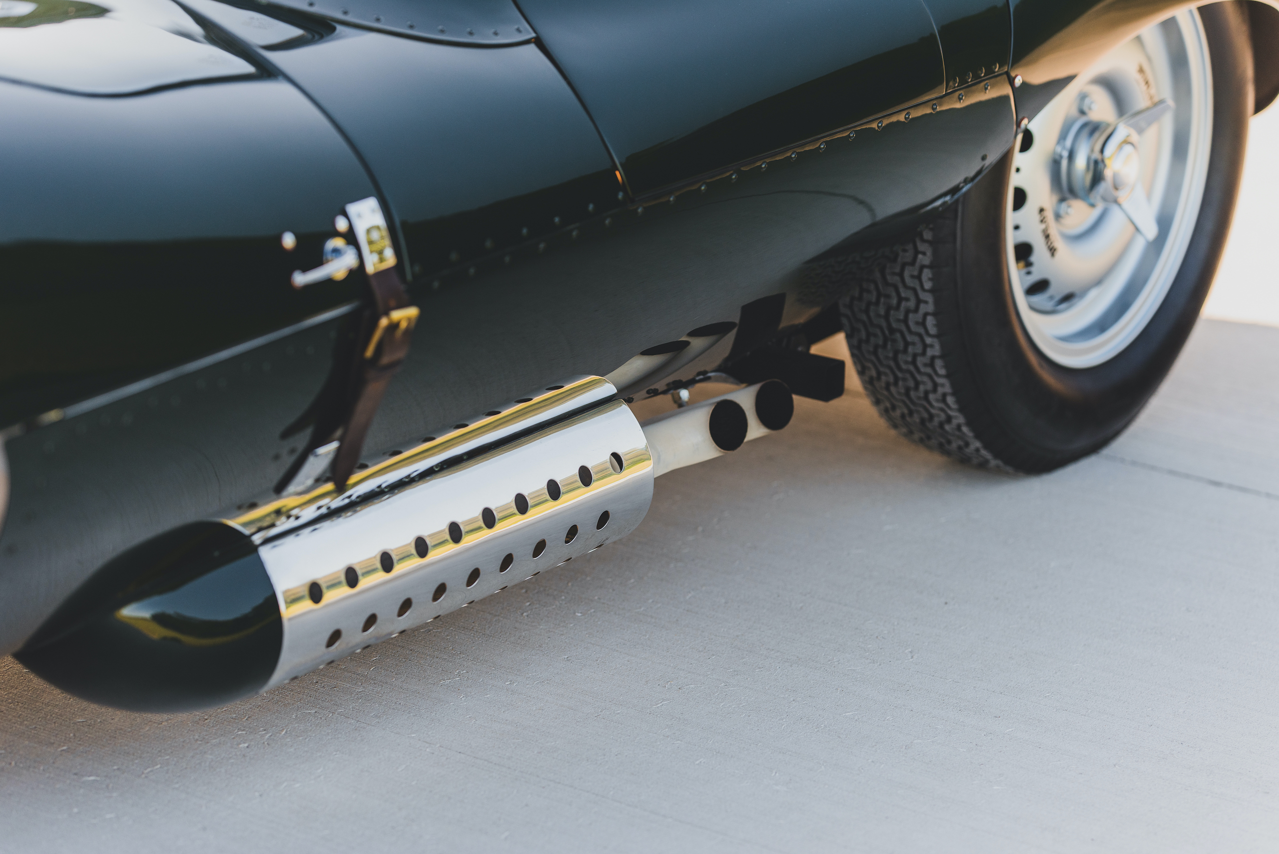 1957 Jag XKSS exhaust side pipes