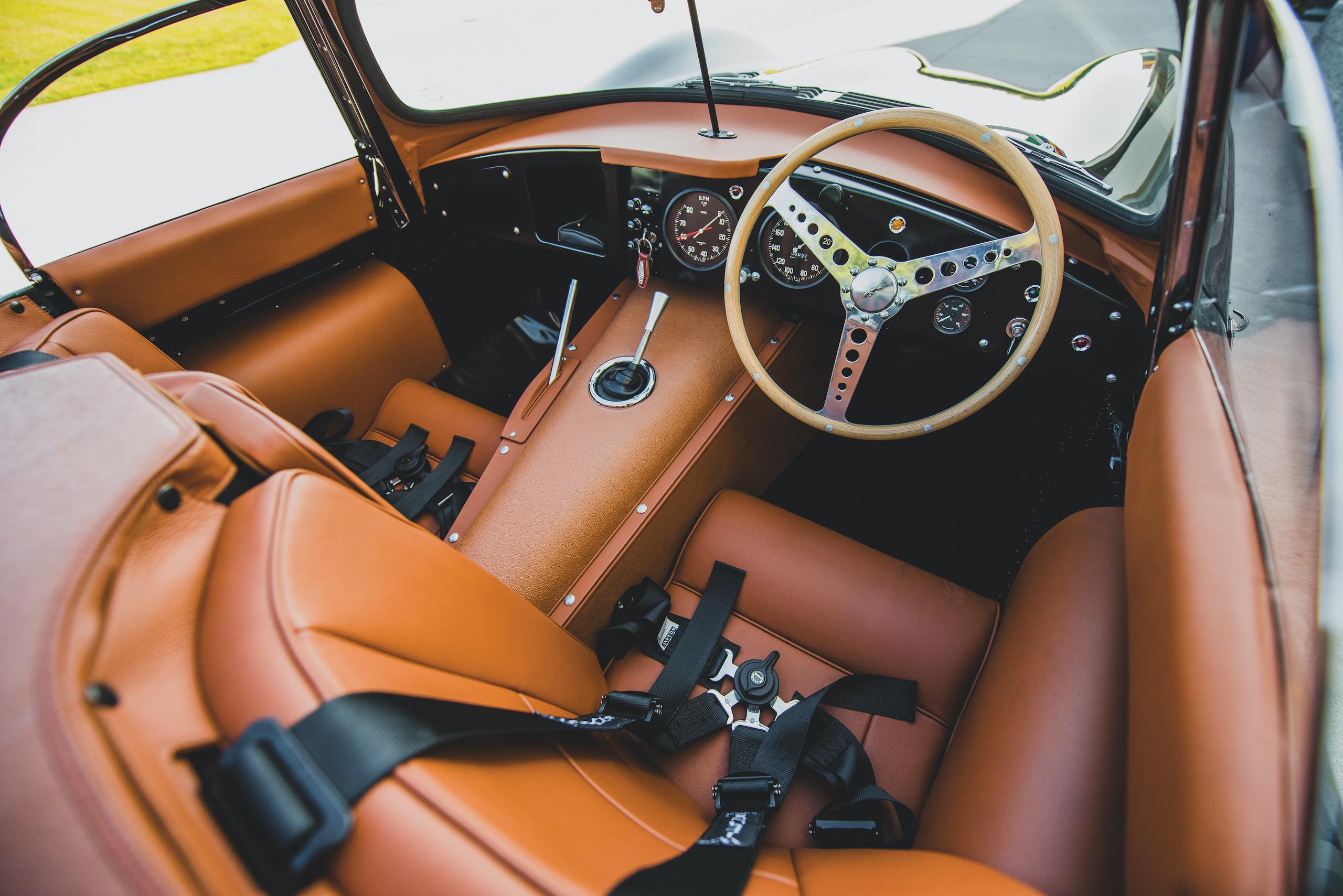 1957 Jag XKSS interior cockpit