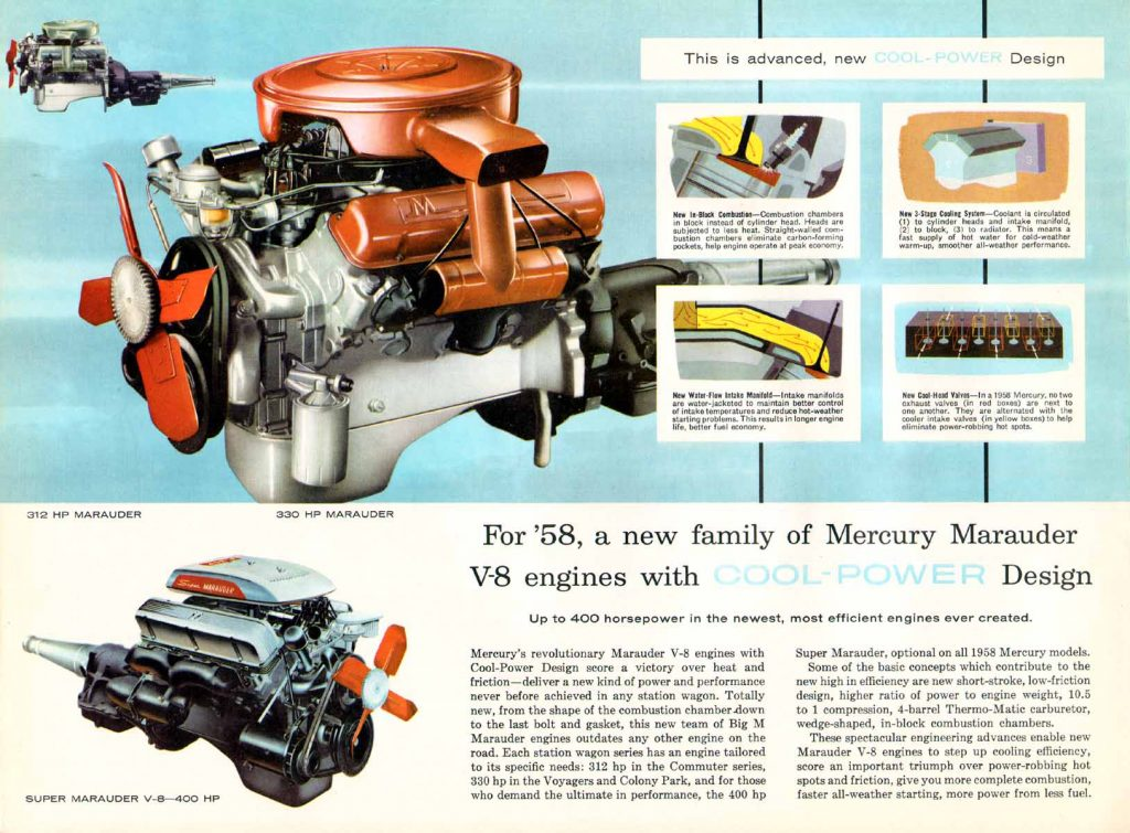 1958 Mercury Wagons Engine Brochure