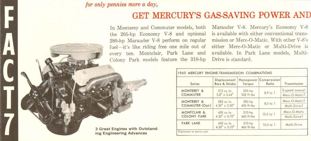 1960 Mercury Engine marauders