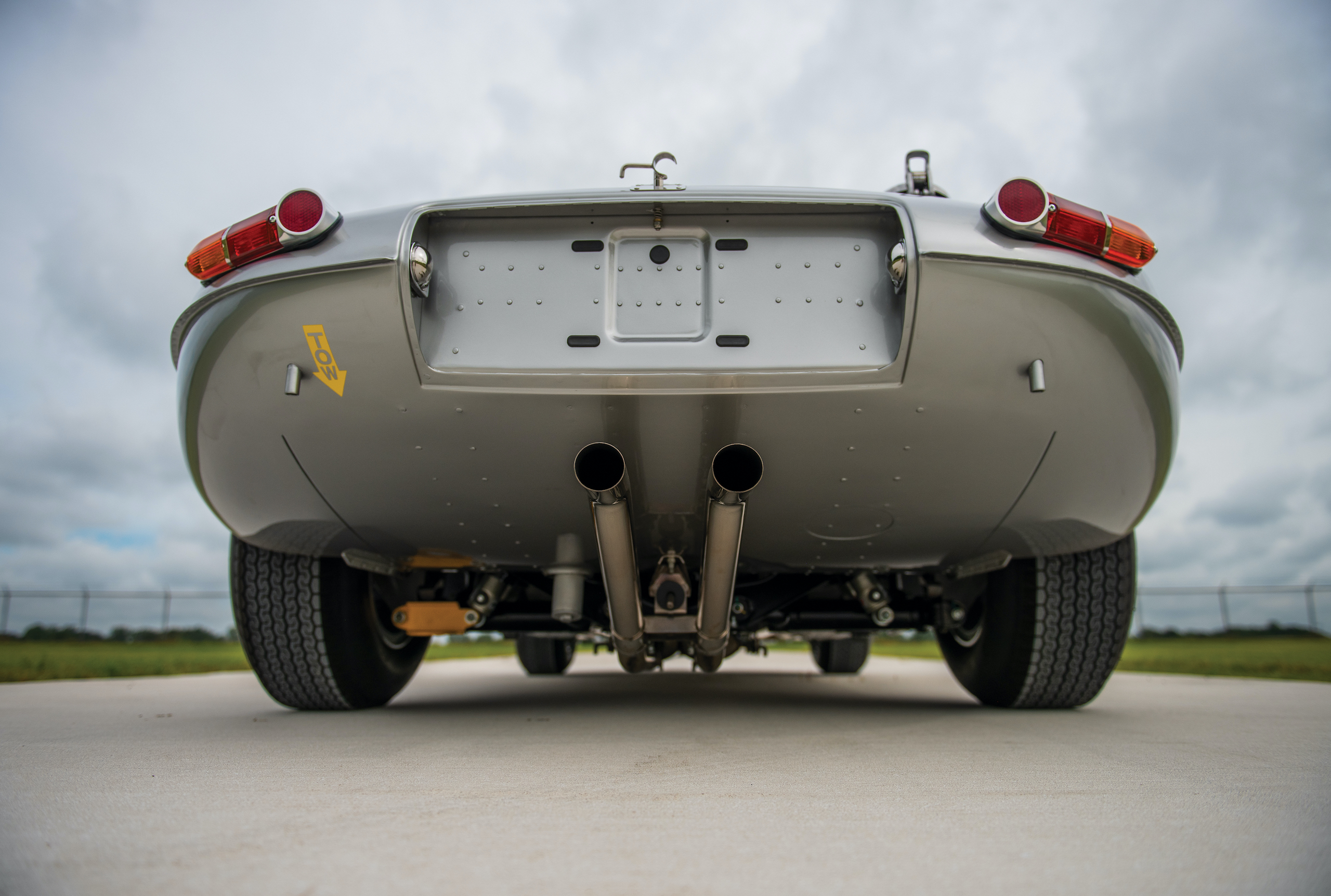 1963 Jag E Type rear underside pipes
