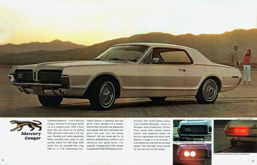 1967 Mercury Cougar front three-quarter ad