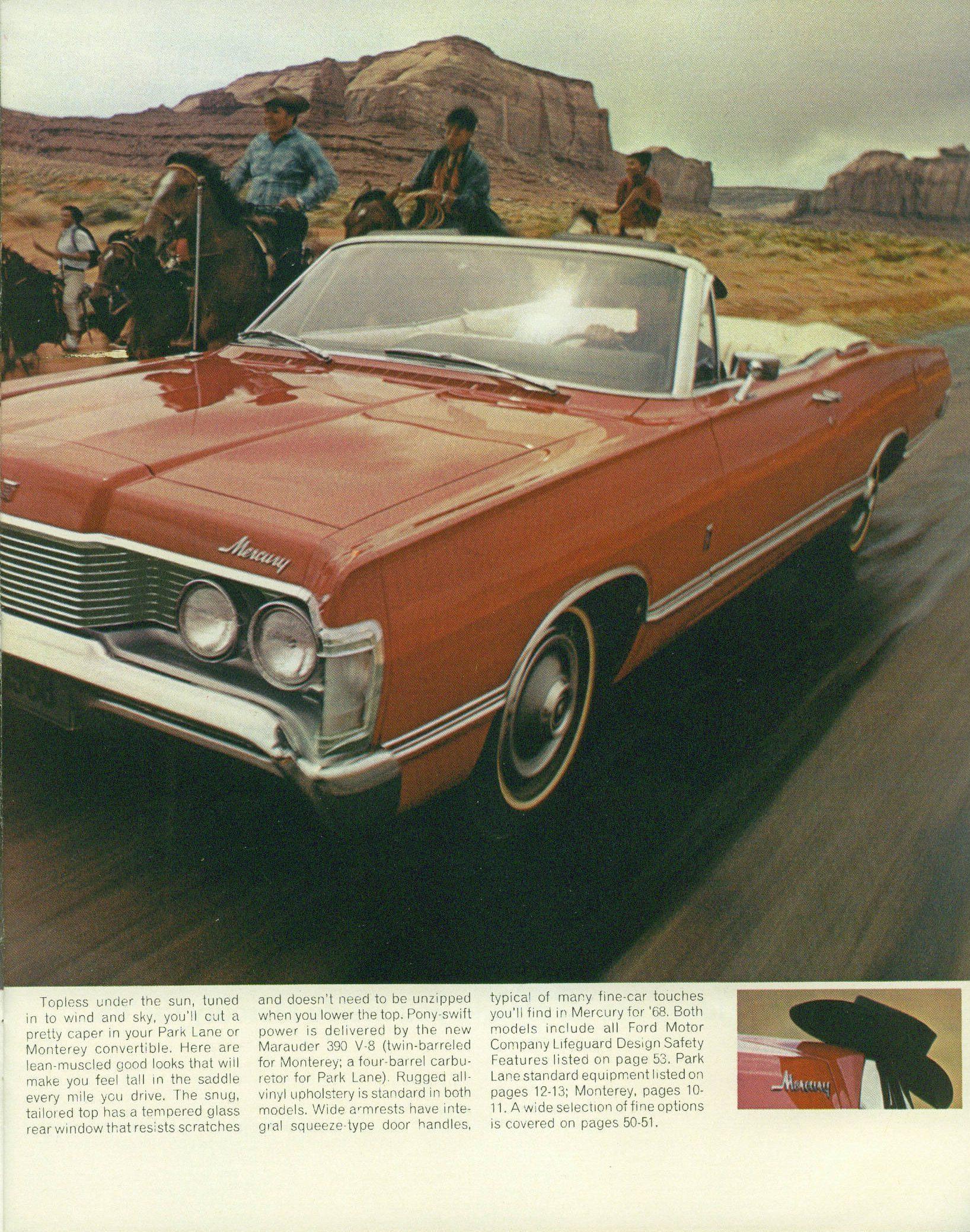 1968 Mercury full size sedan brochure right