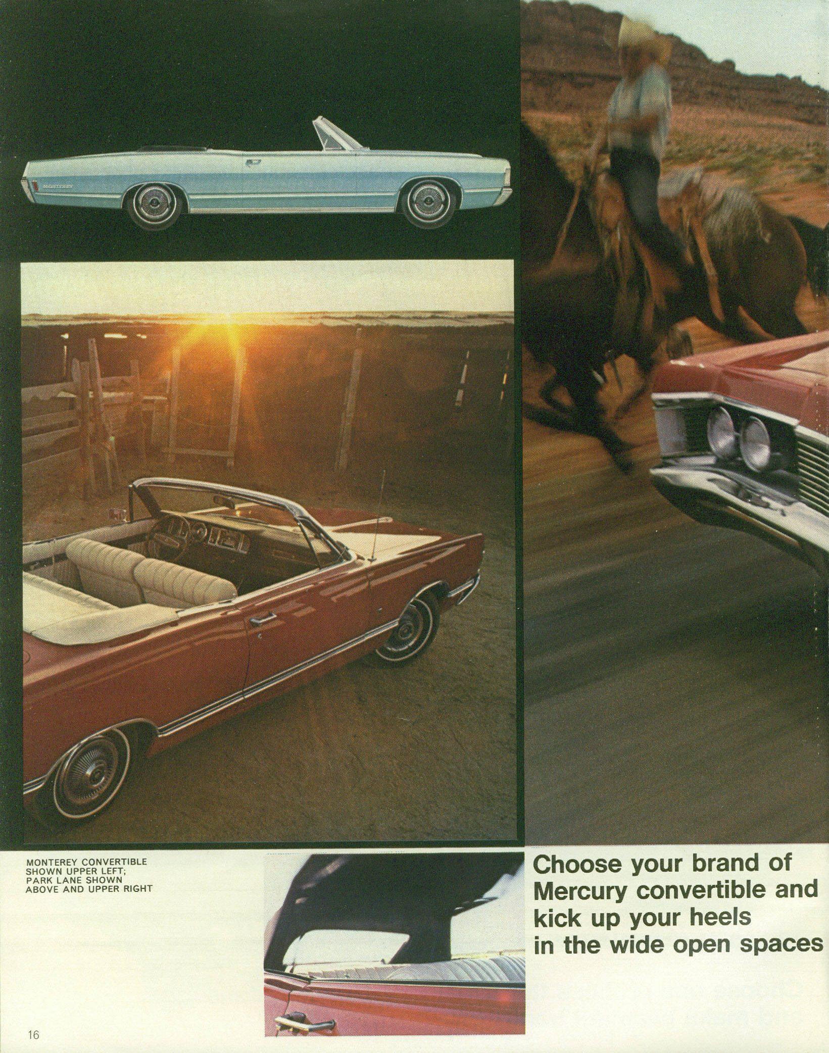 1968 Mercury full size sedan brochure left