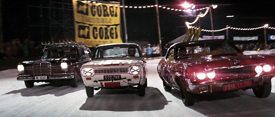 1969 Mercury Cougar XR7 Convertible - James Bond - Movie still - snow scene