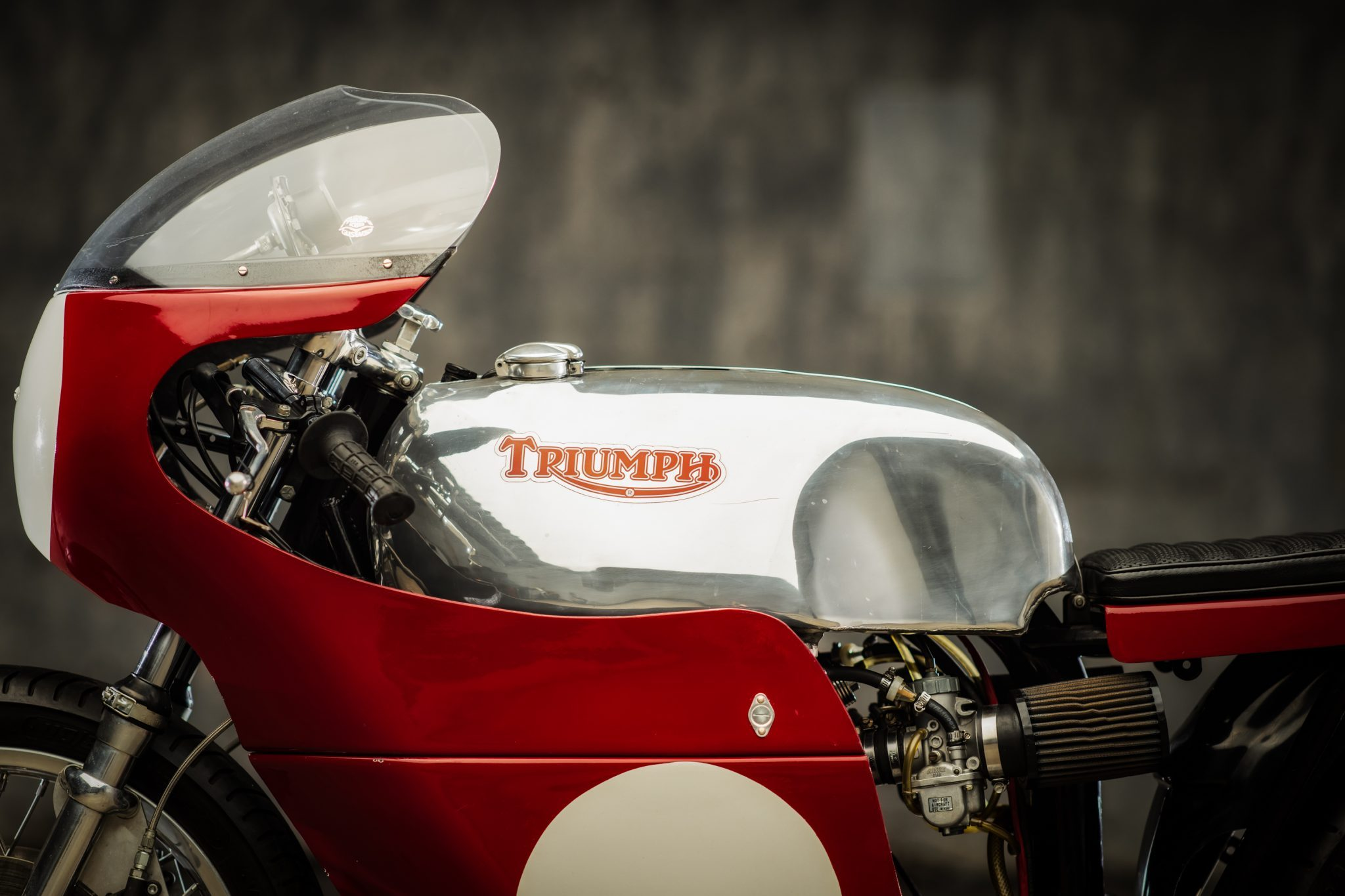 1972 Triumph trackmaster left side tank