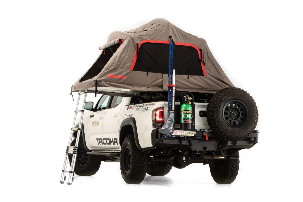 2020 Toyota Tacoma SEMA 360 overland rear tent