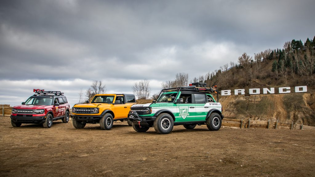 Ford Bronco, Bronco Filson Edition, and Bronco Sport Support truck