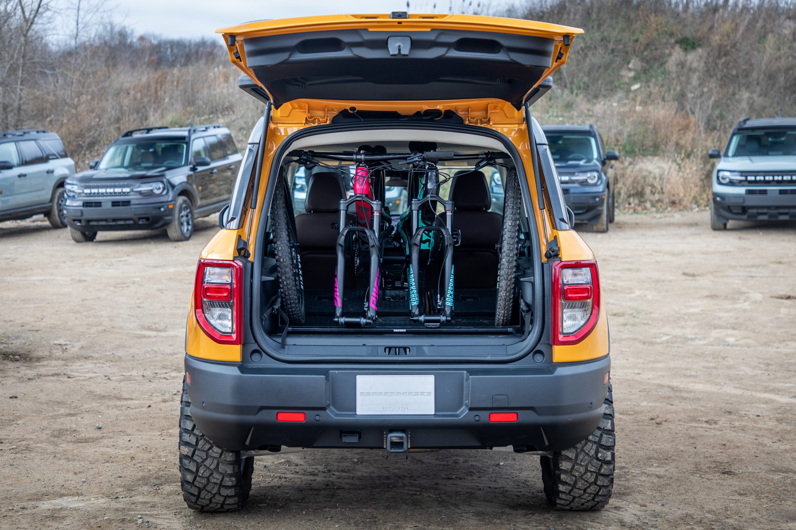 2021 Bronco Sport mountain bike rack