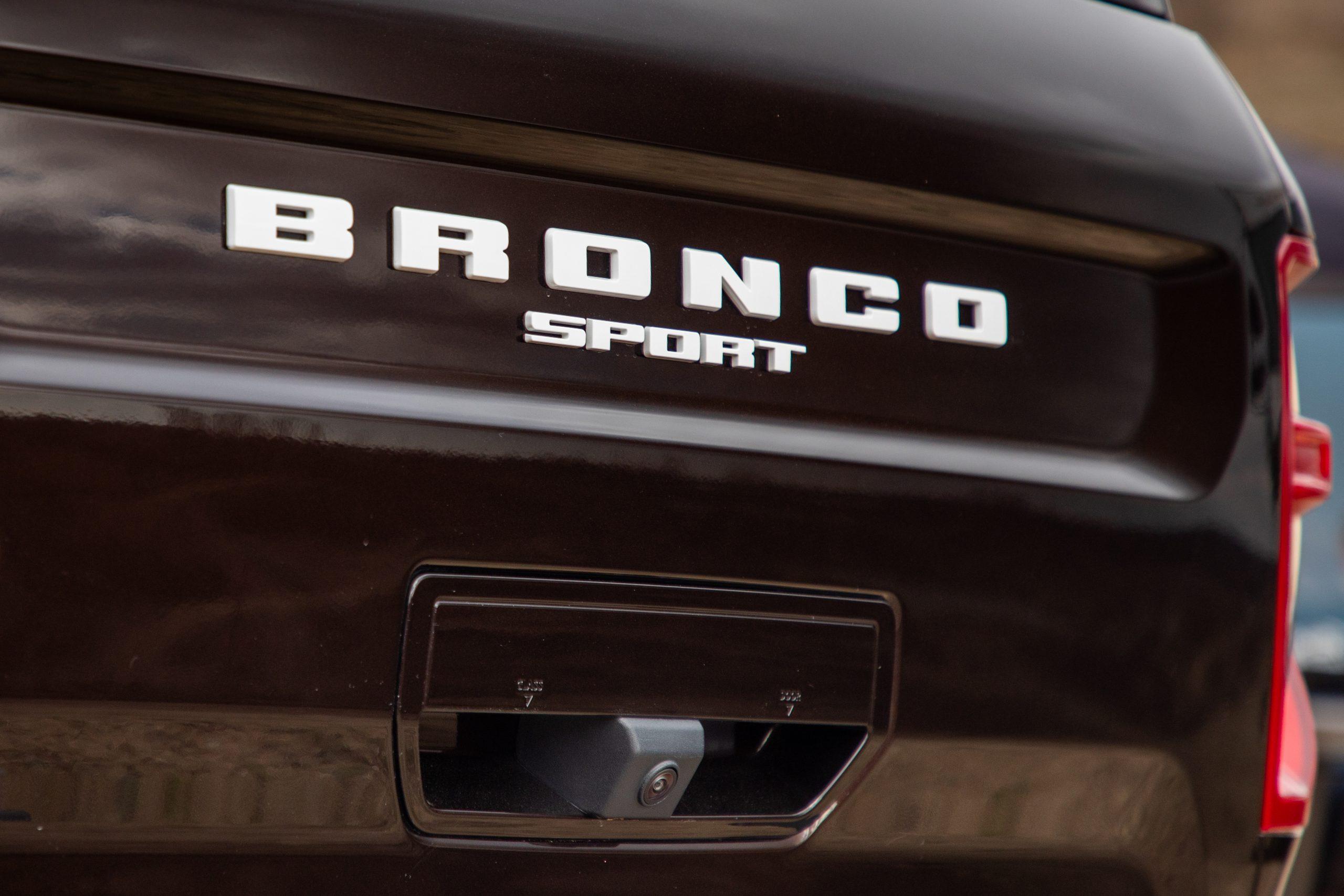 2021 Bronco Sport rear trunk badging