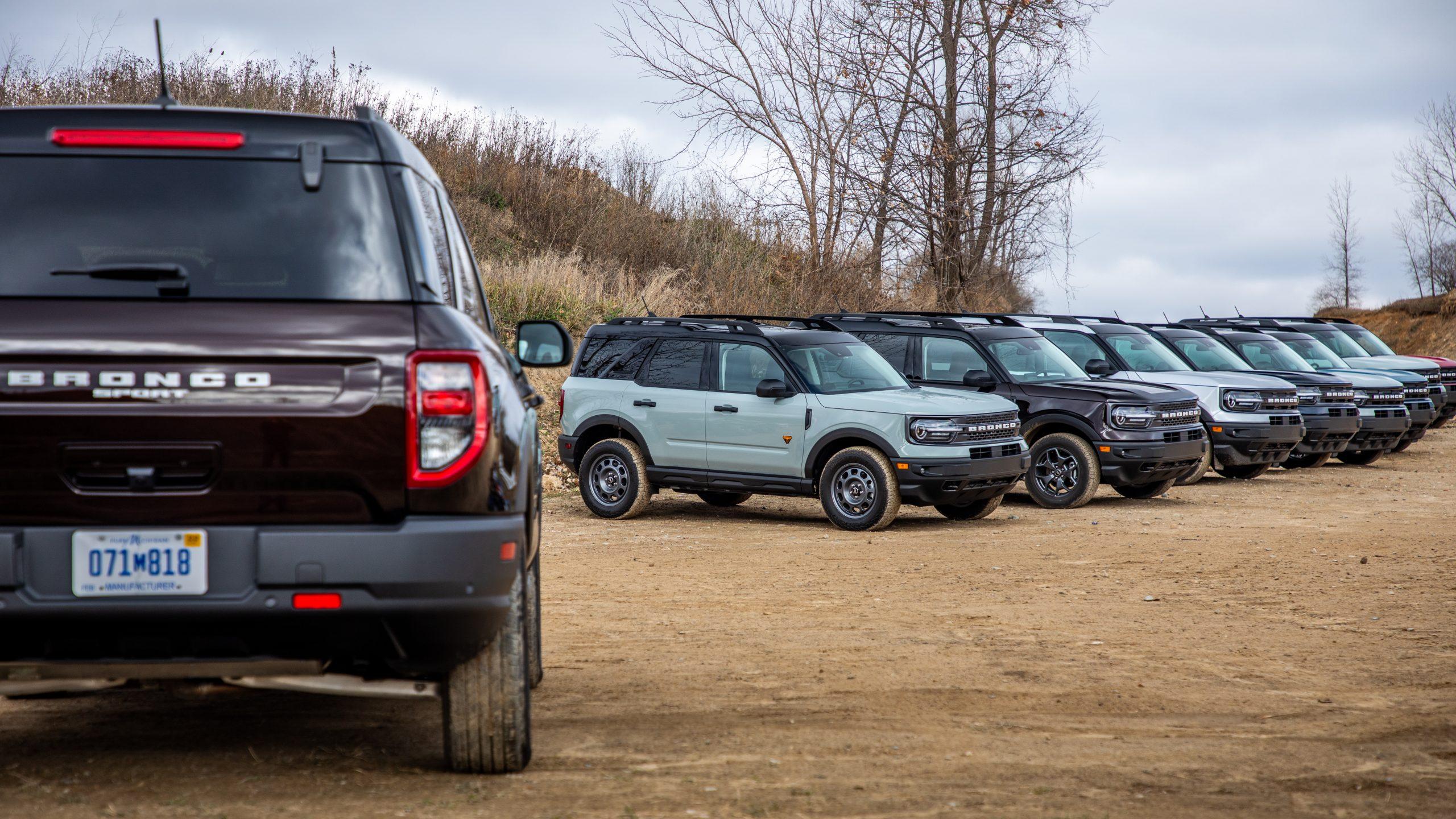 2021 Bronco Sport fleet parked