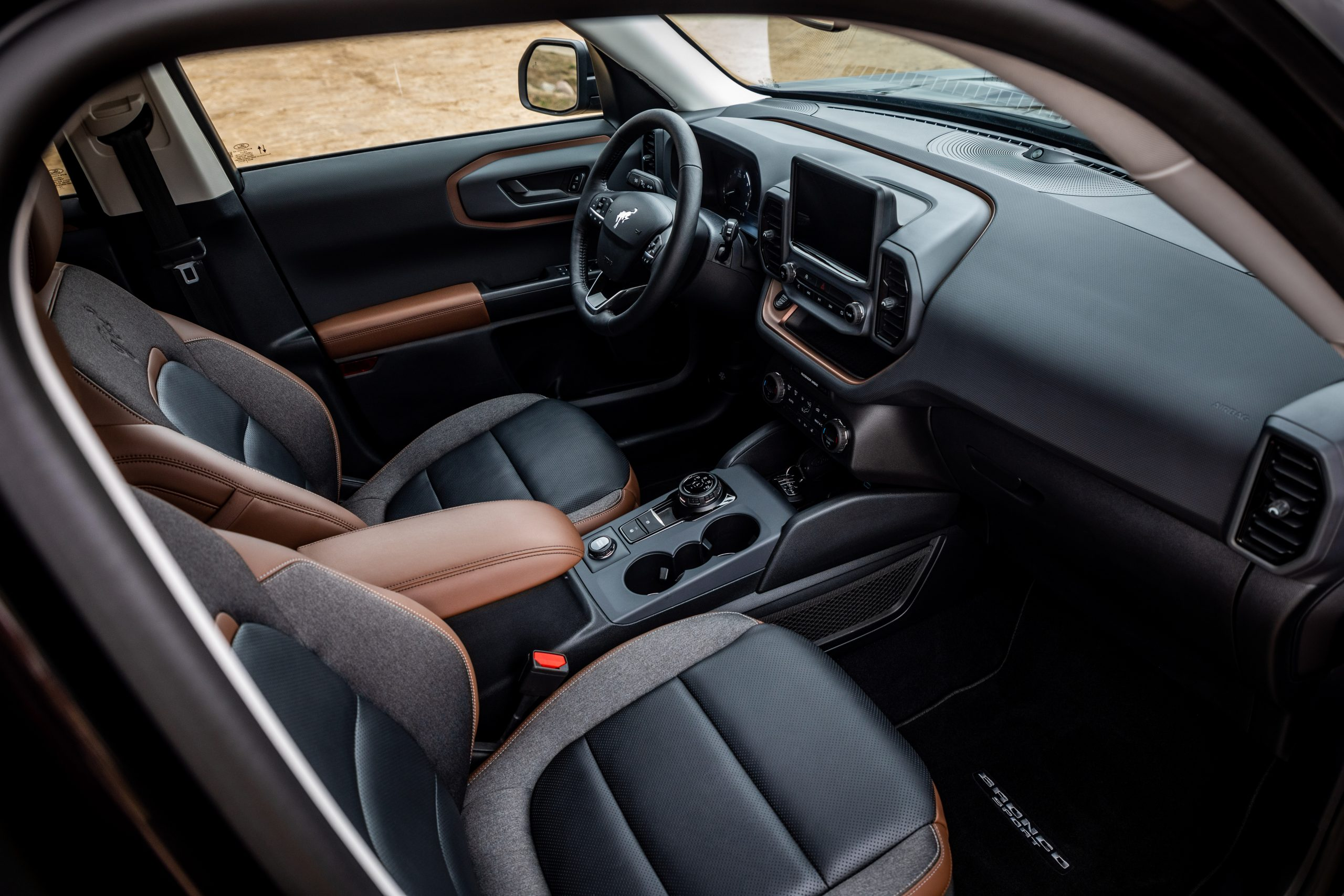 2021 Bronco Sport interior from passenger side