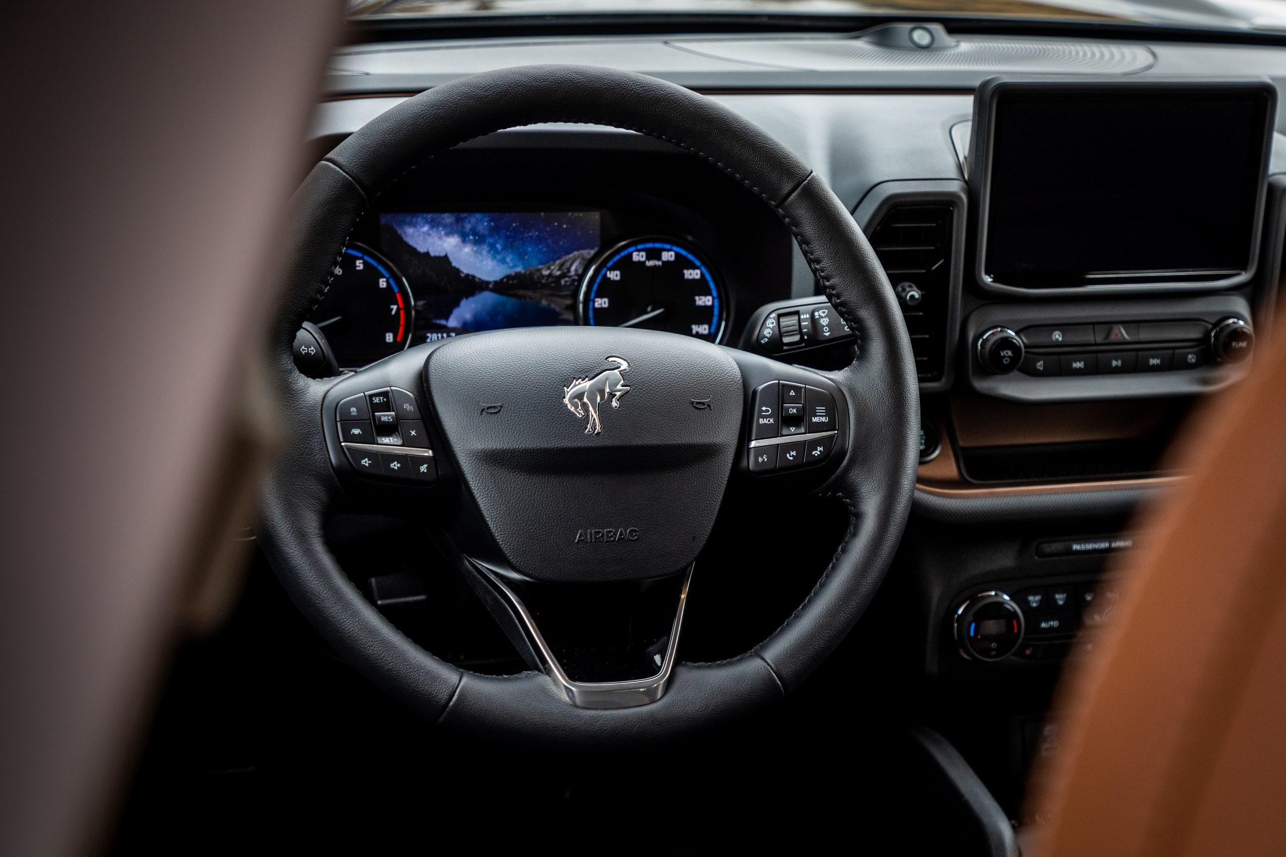 2021 Bronco Sport interior steering wheel