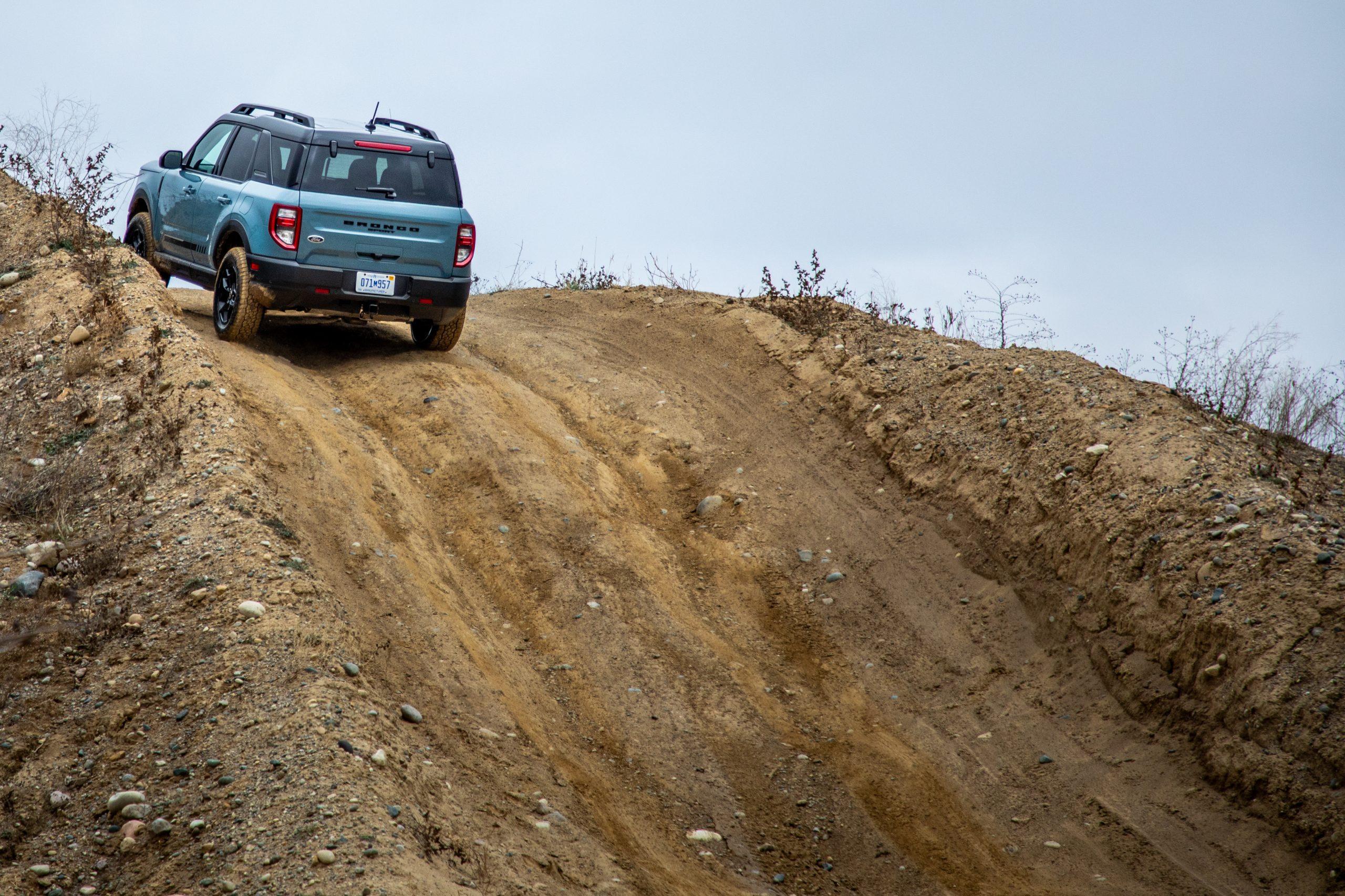 2021 Bronco Sport climbing the hill
