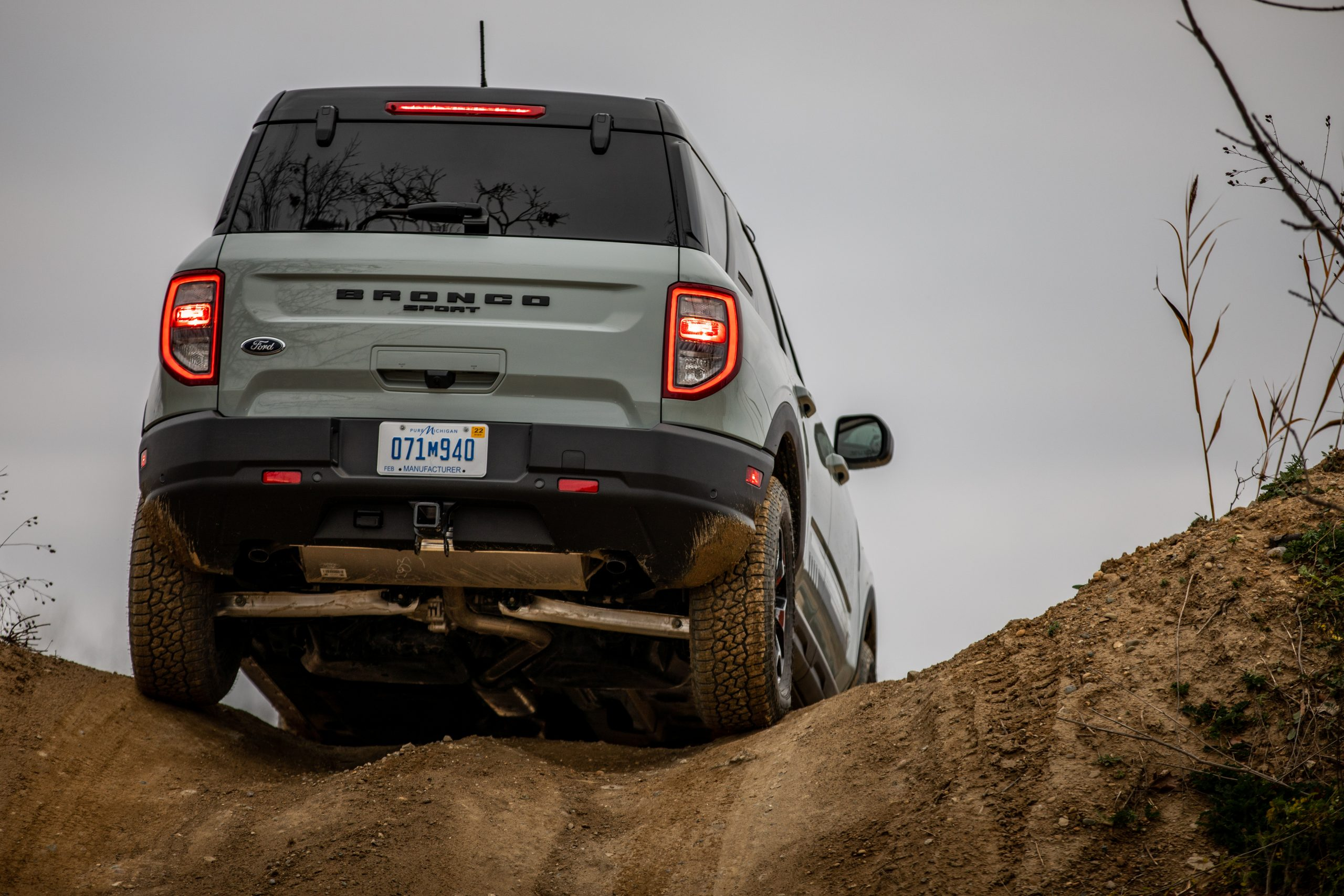 2021 Bronco Sport rear shot over the hill