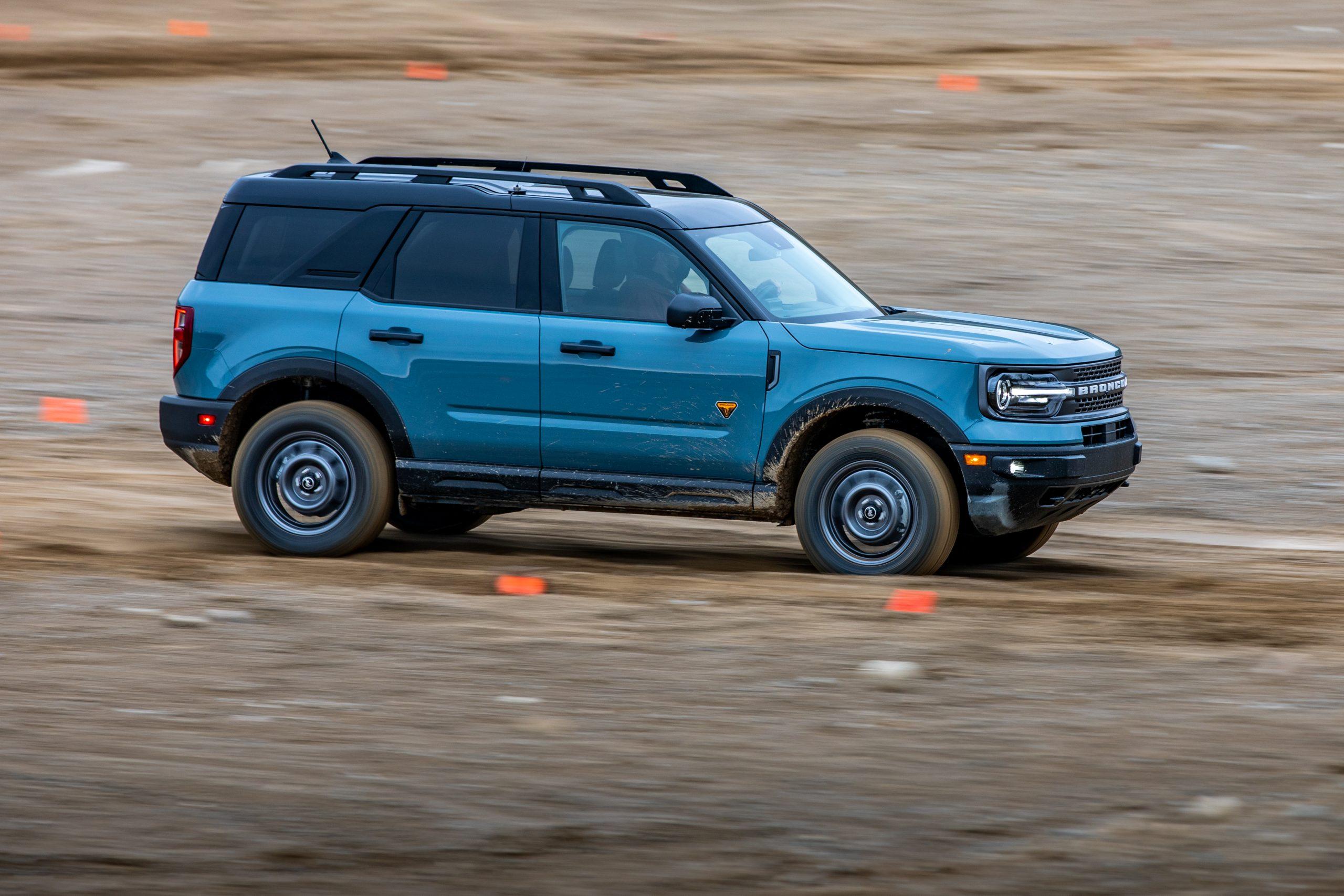 2021 Bronco Sport side profile dirtcross
