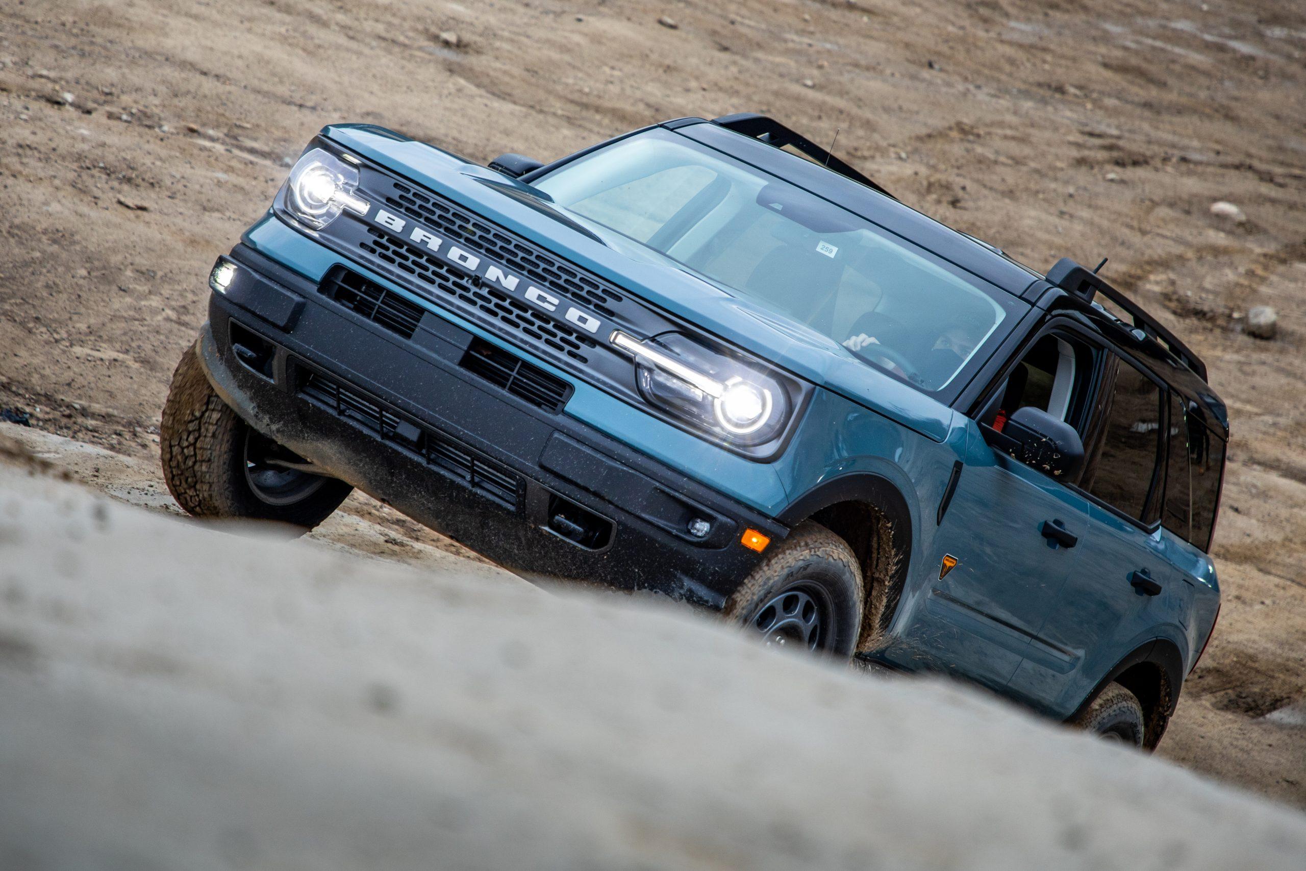 2021 Bronco Sport climbing front