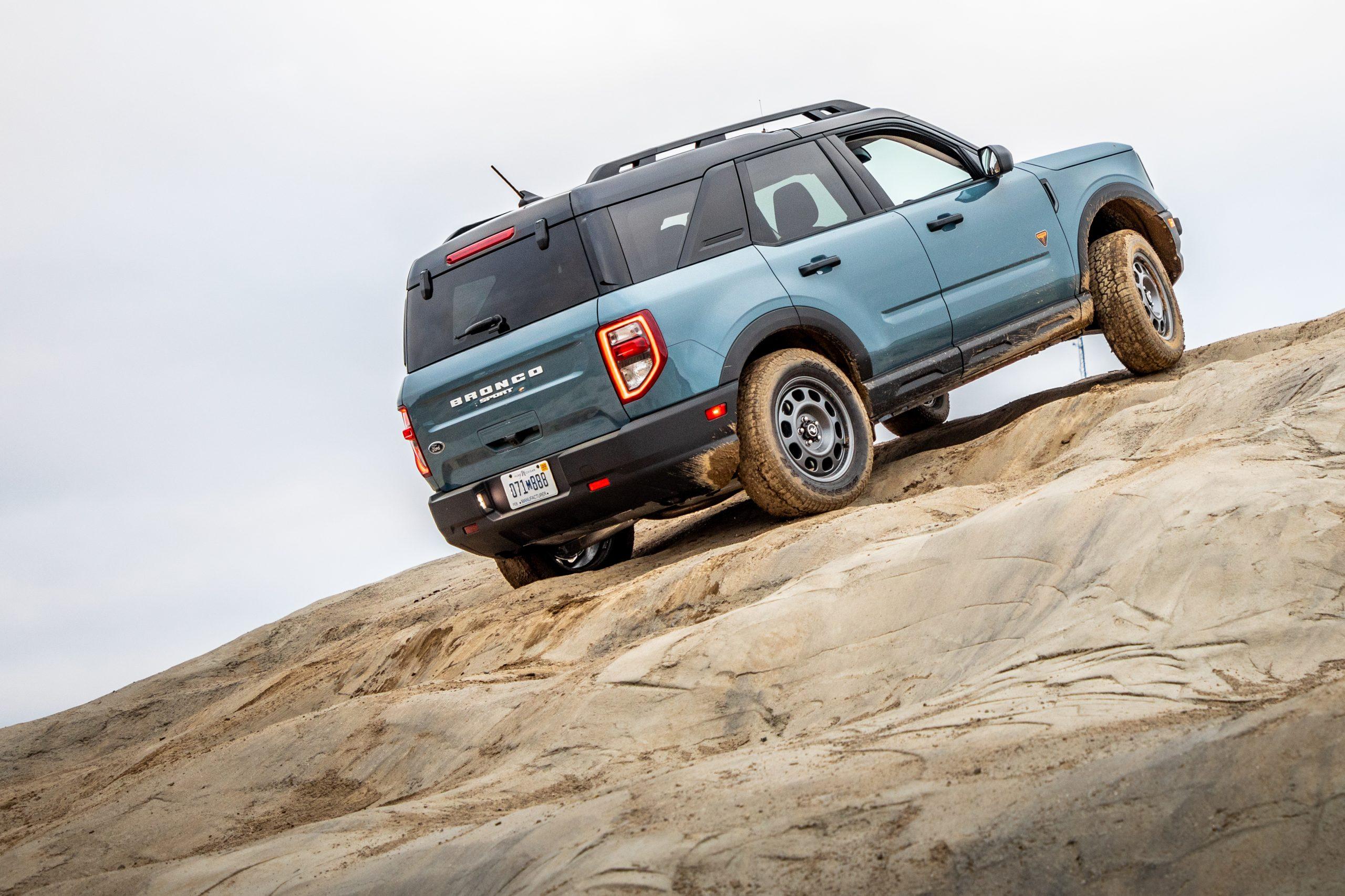 2021 Bronco Sport Badlands Mountain Climbing
