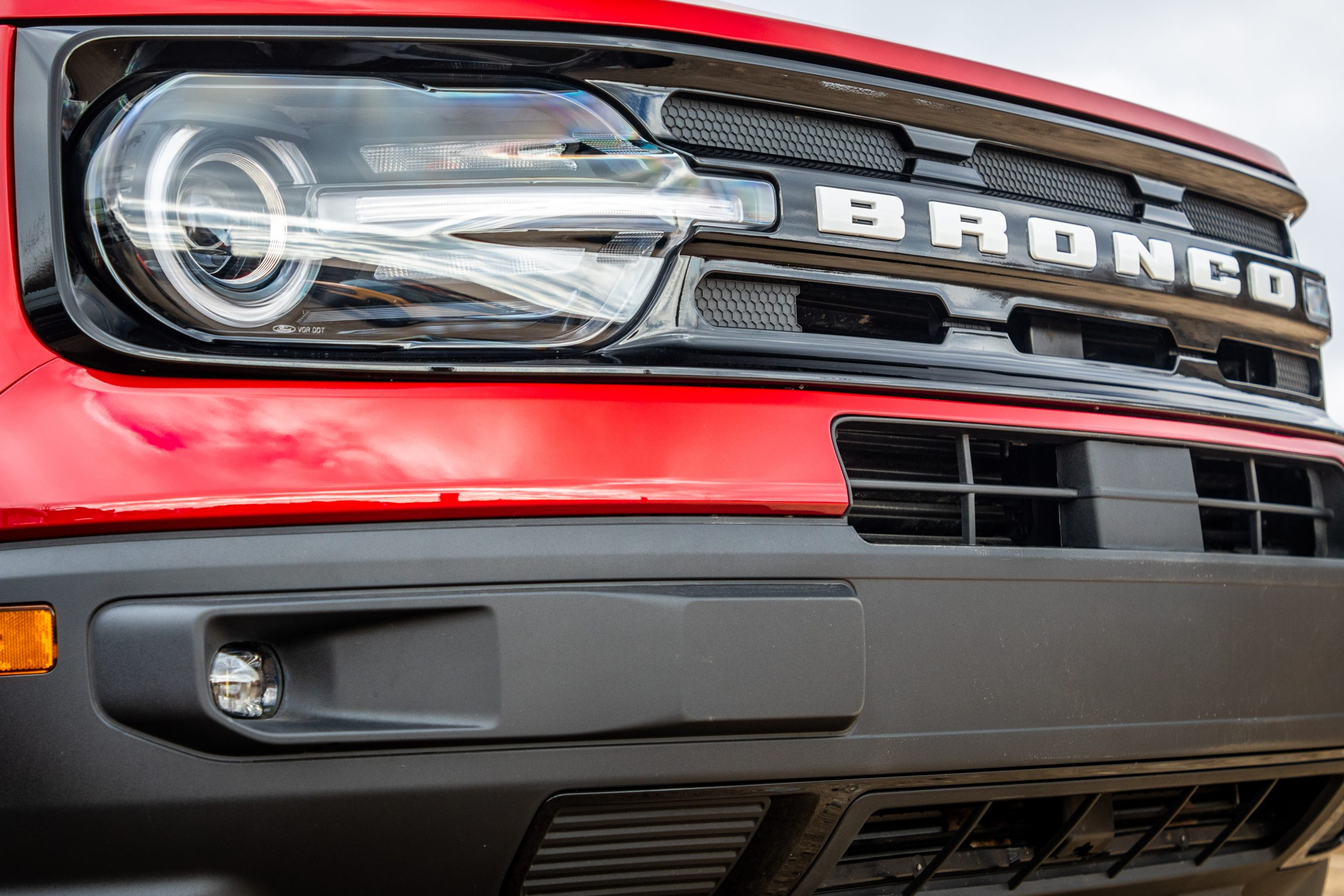 2021 Bronco Sport front headlight and grille