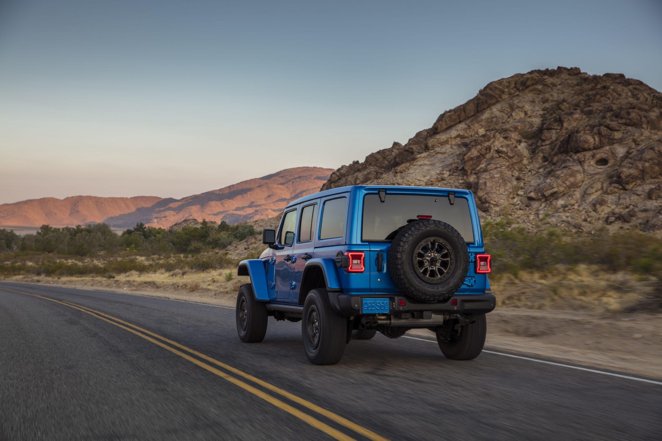2021 Jeep Wrangler Rubicon 392 blue rear three quarter