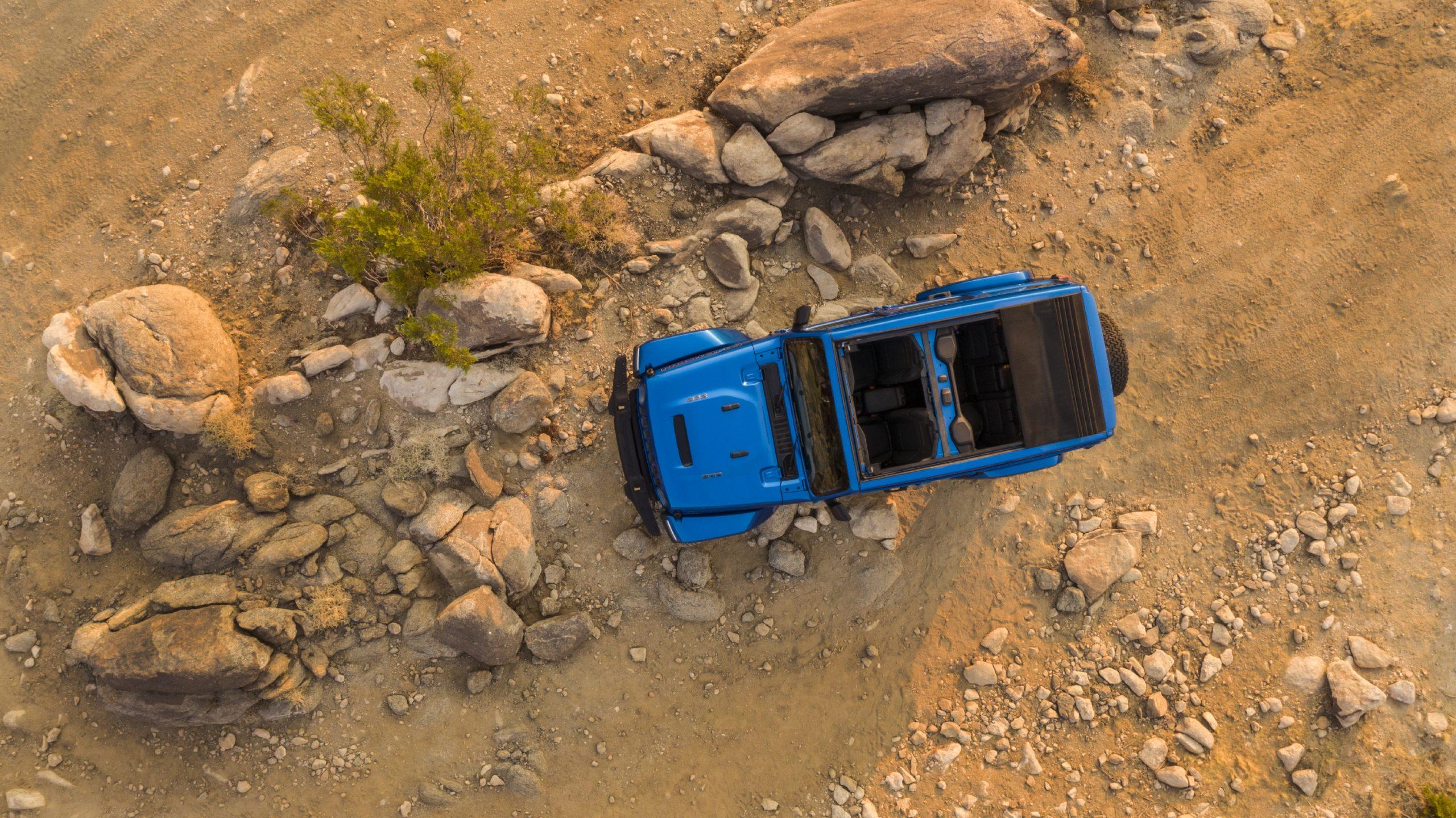 2021 Jeep Wrangler Rubicon 392 blue overhead
