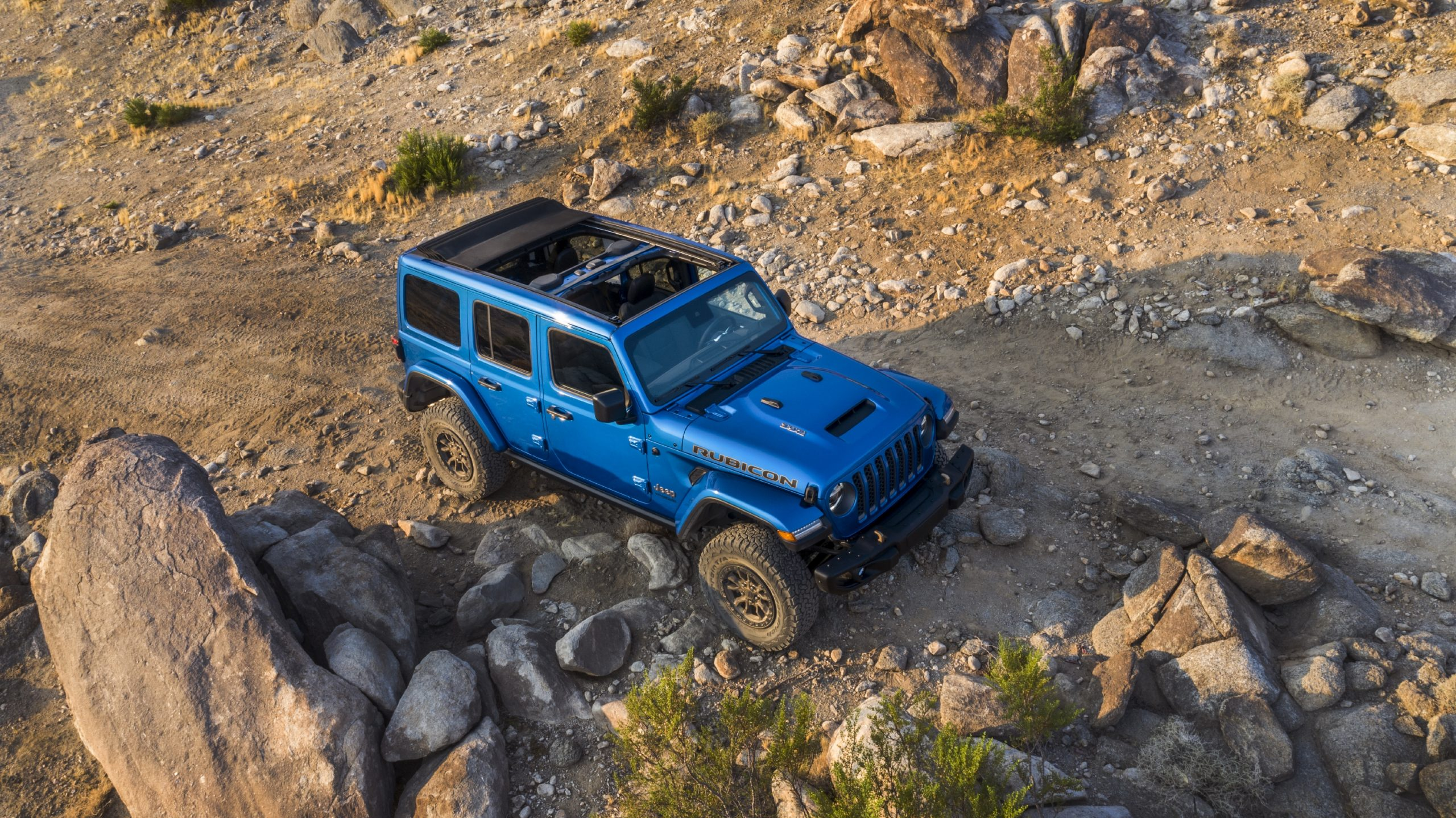 2021 Jeep Wrangler Rubicon 392 blue high front three quarter