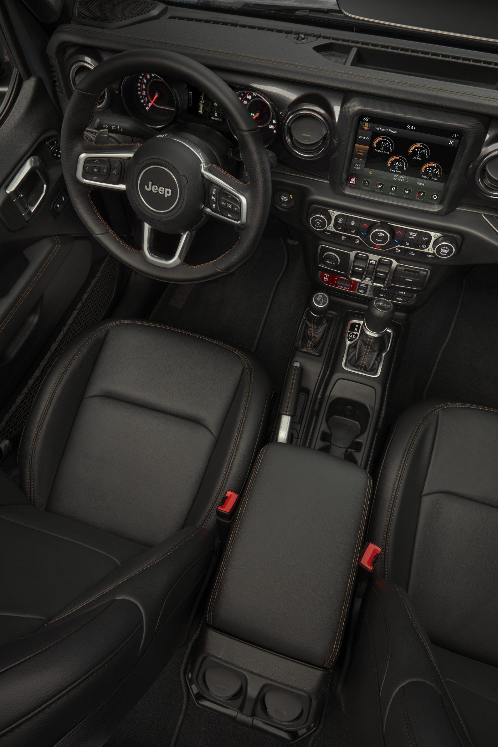 2021 Jeep Wrangler Rubicon 392 interior overhead
