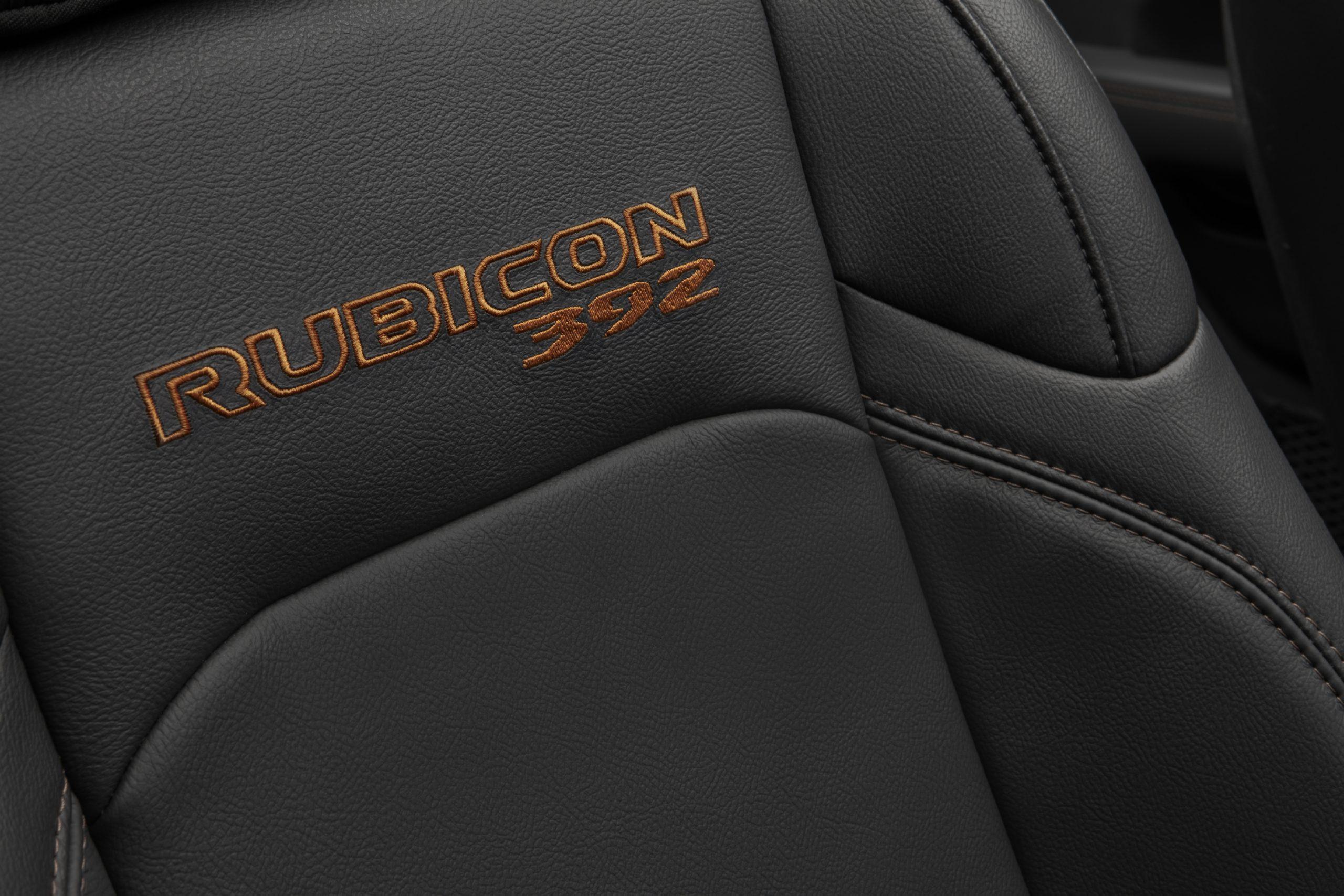 2021 Jeep Wrangler Rubicon 392 seat inscriptions