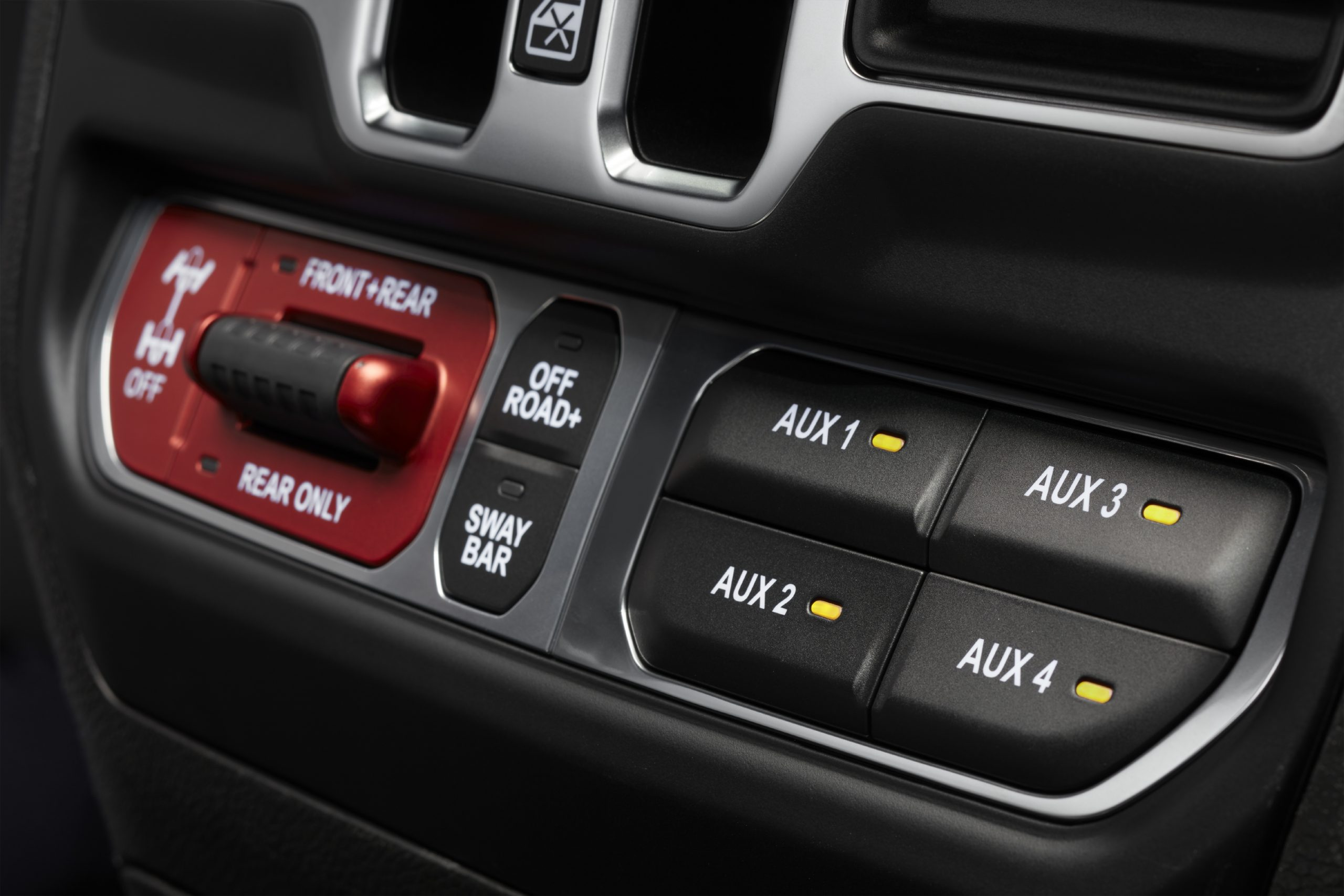 2021 Jeep Wrangler Rubicon 392 off-road switches