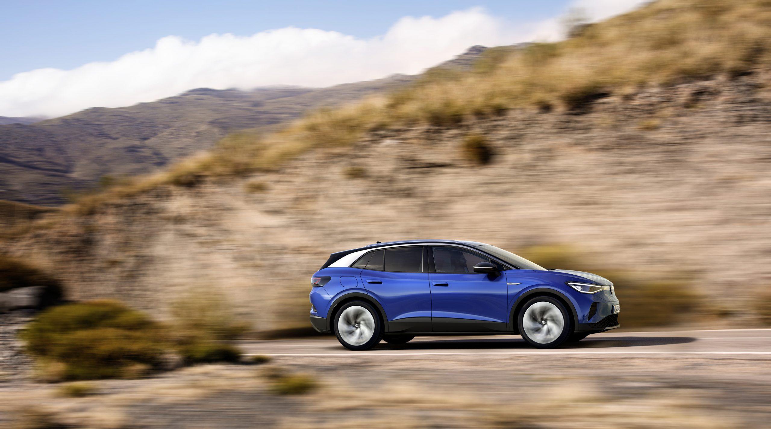 2021 VW ID4 side blue